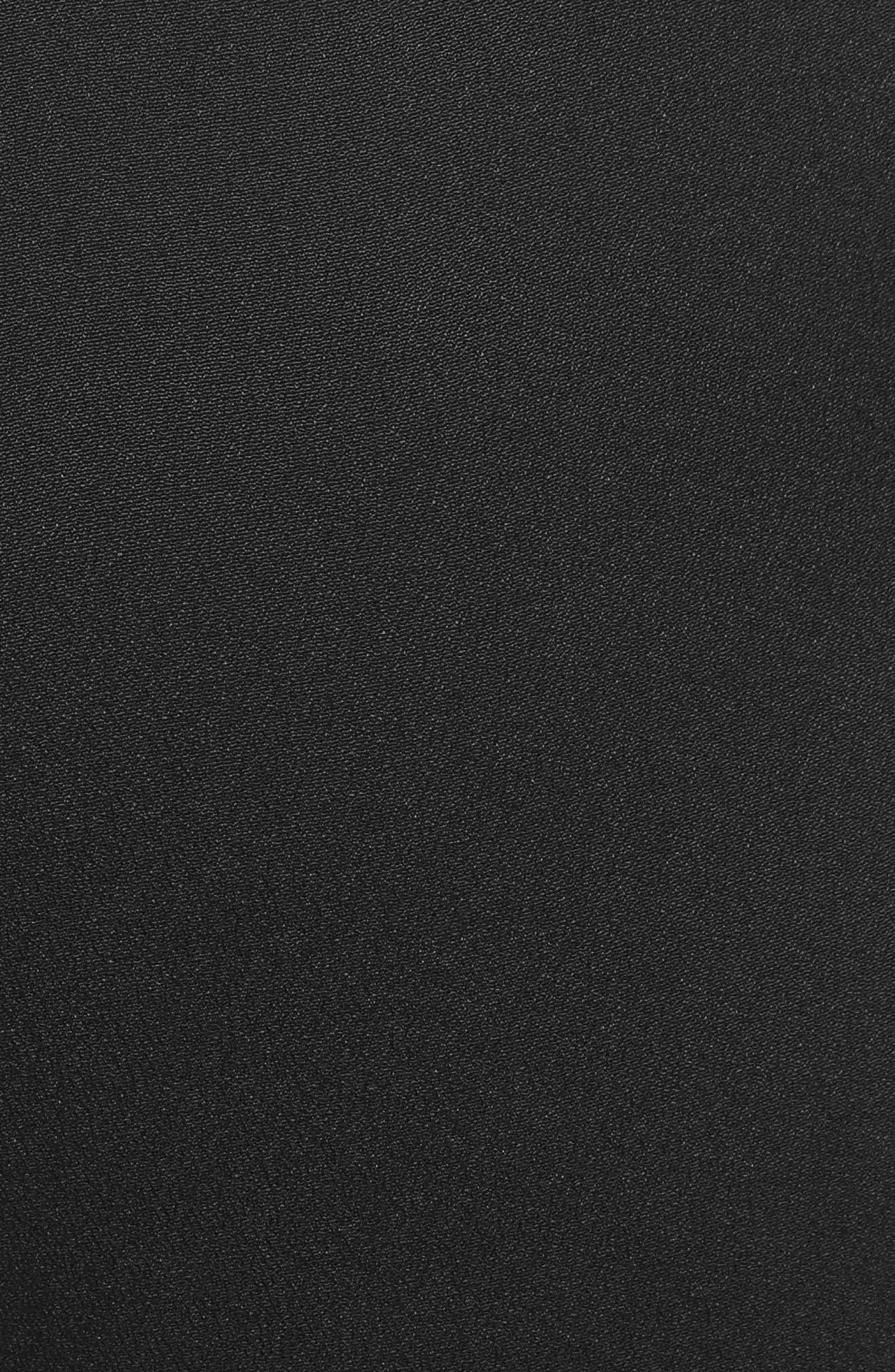 Crop Drawstring Pants,                             Alternate thumbnail 5, color,                             Black