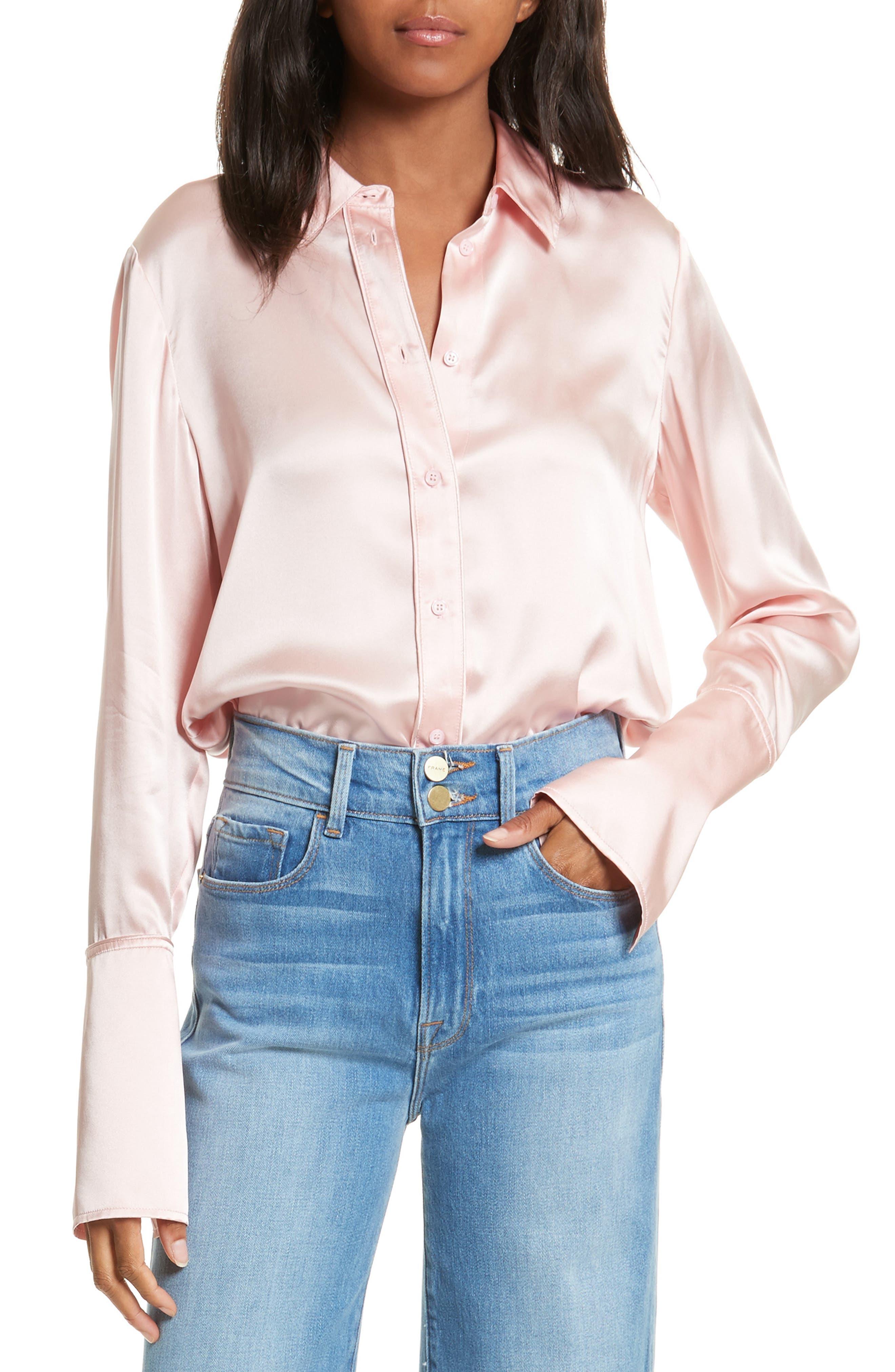FRAME Long Cuff Silk Shirt