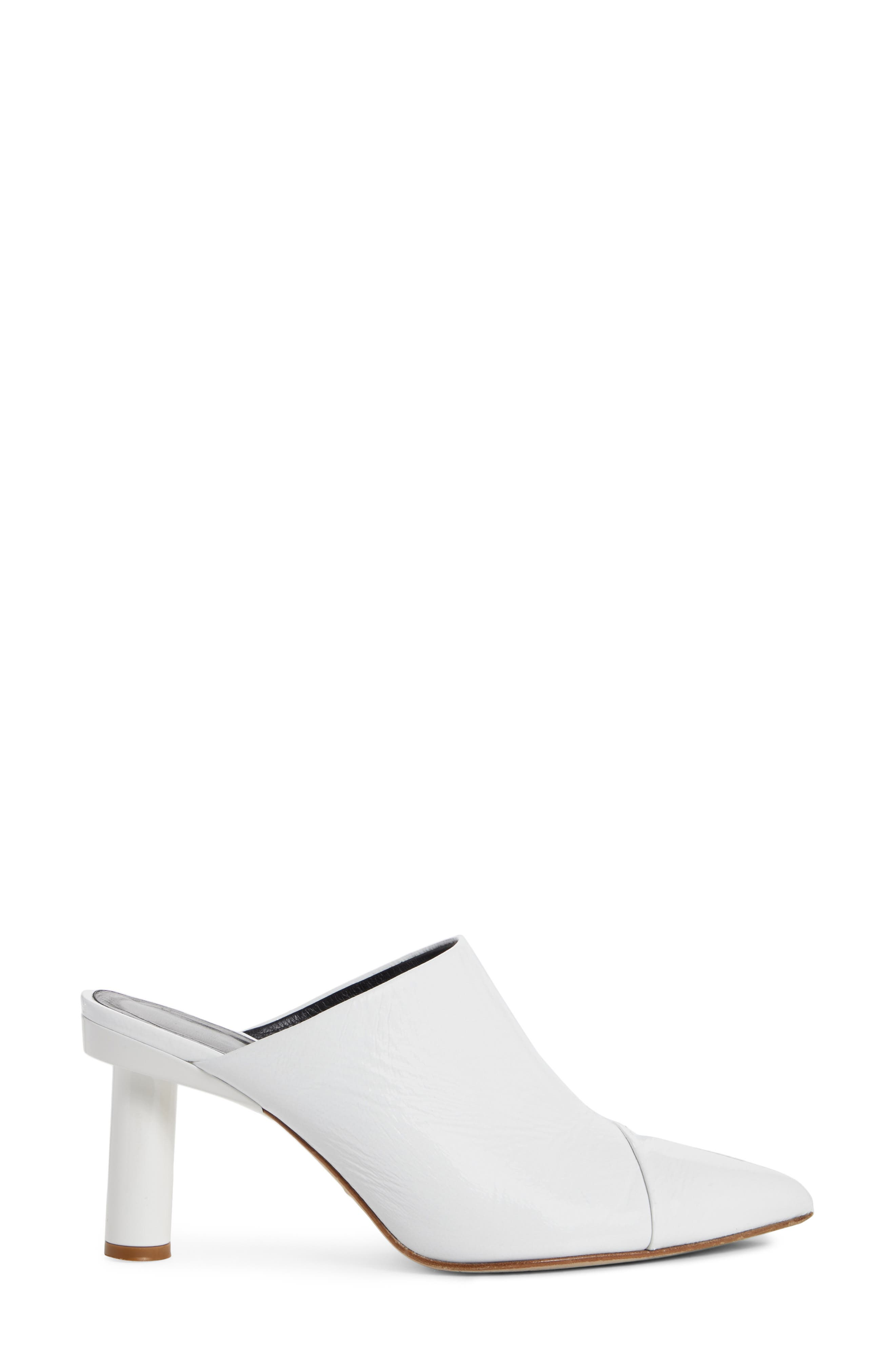 Liam Pointy Toe Mule,                             Alternate thumbnail 3, color,                             Bright White