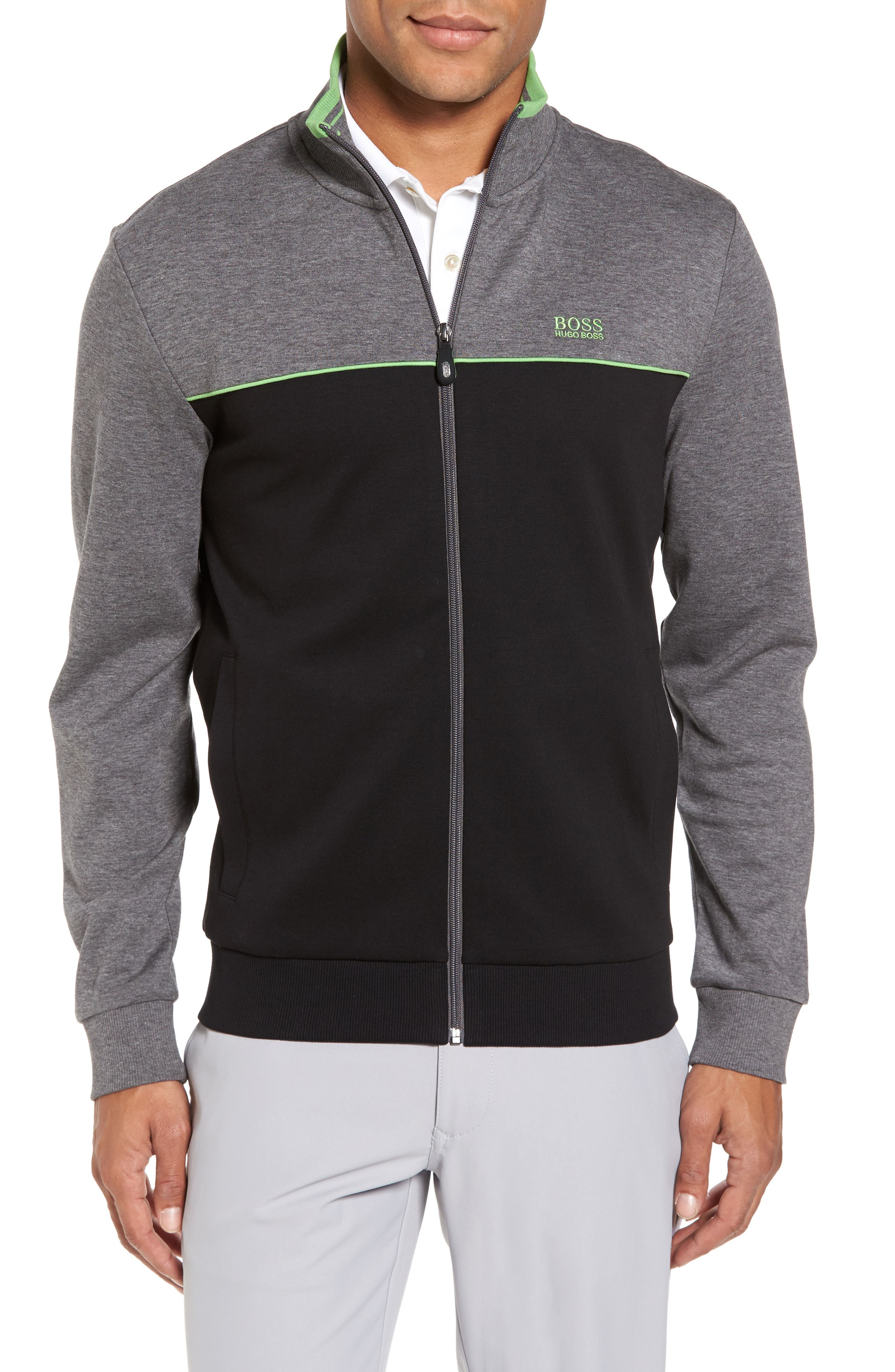 Skaz Full Zip Fleece Jacket,                         Main,                         color, Black