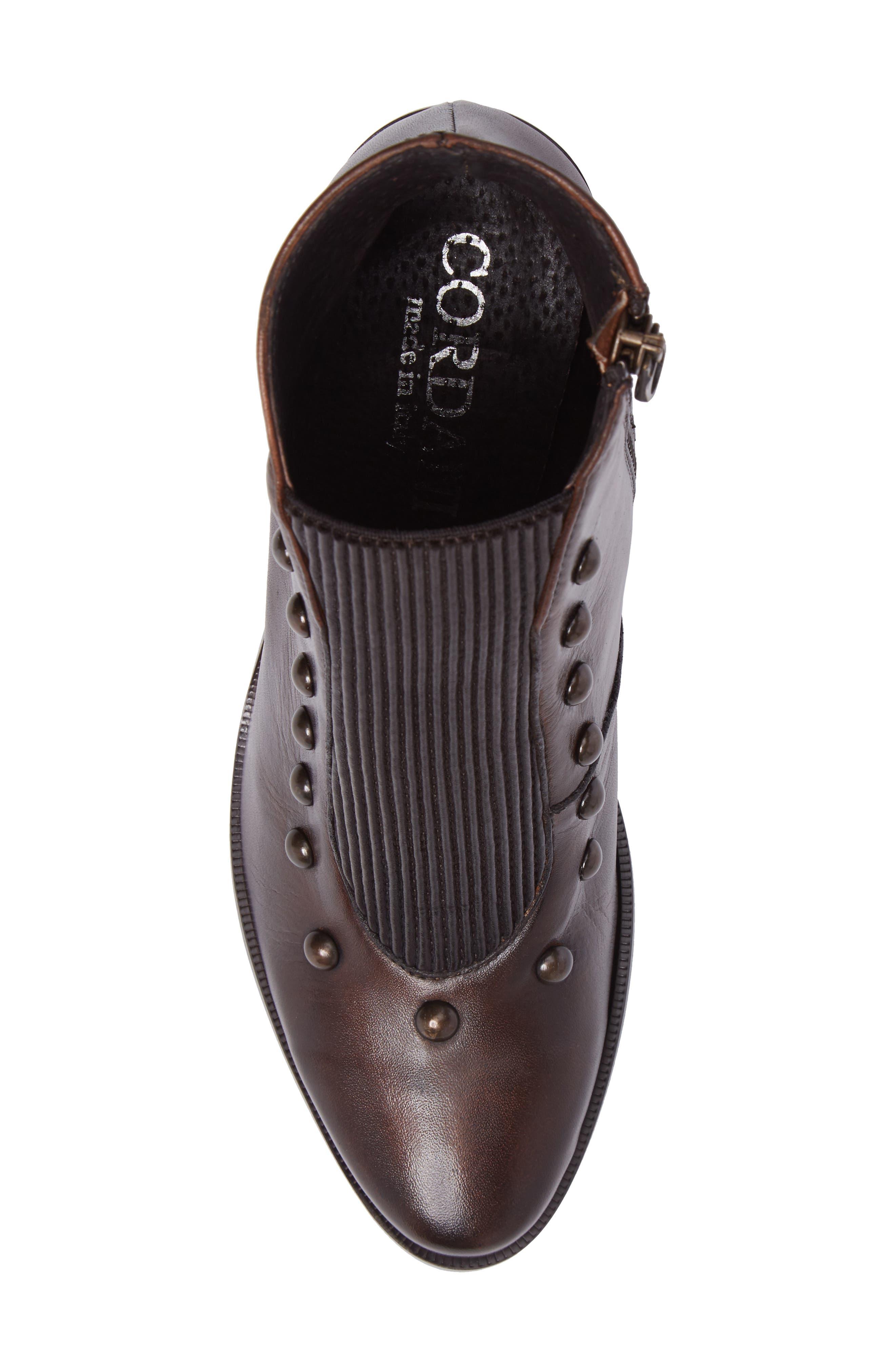 Beatrix Studded Bootie,                             Alternate thumbnail 5, color,                             Deer Leather