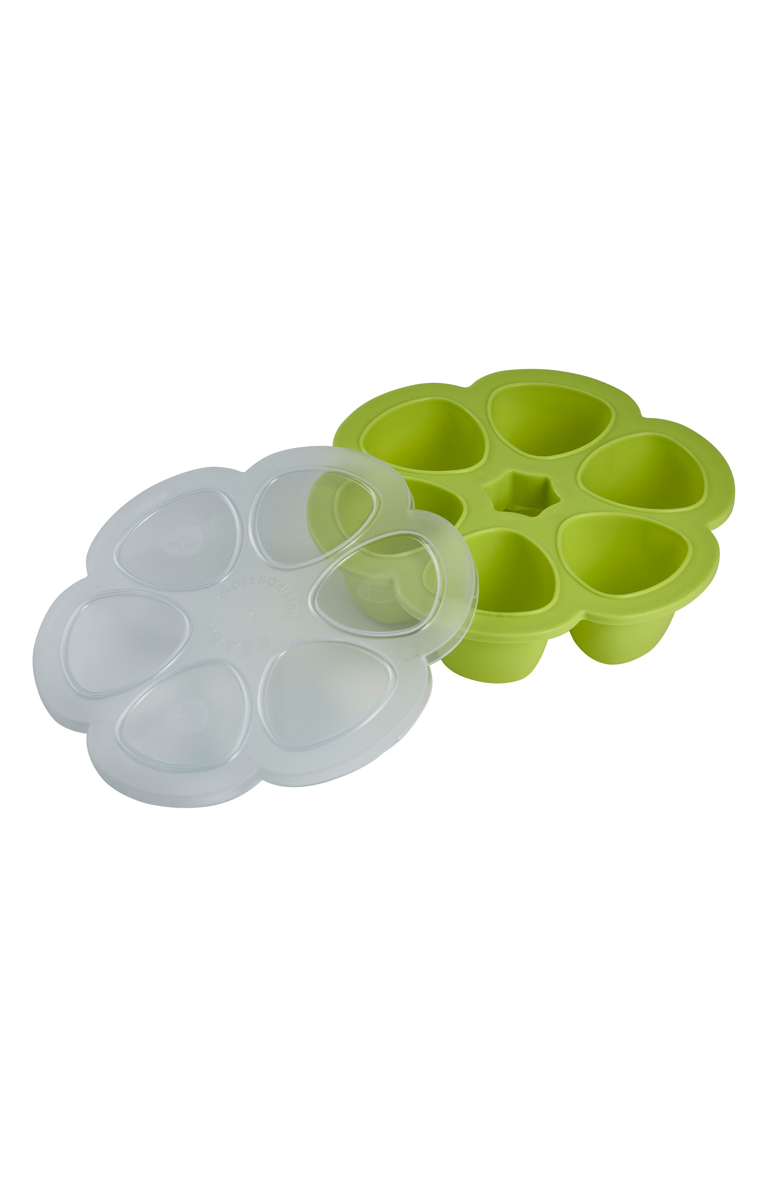 'Multiportions<sup>™</sup>' Silicone 5 oz. Food Cup Tray,                             Alternate thumbnail 4, color,                             Neon