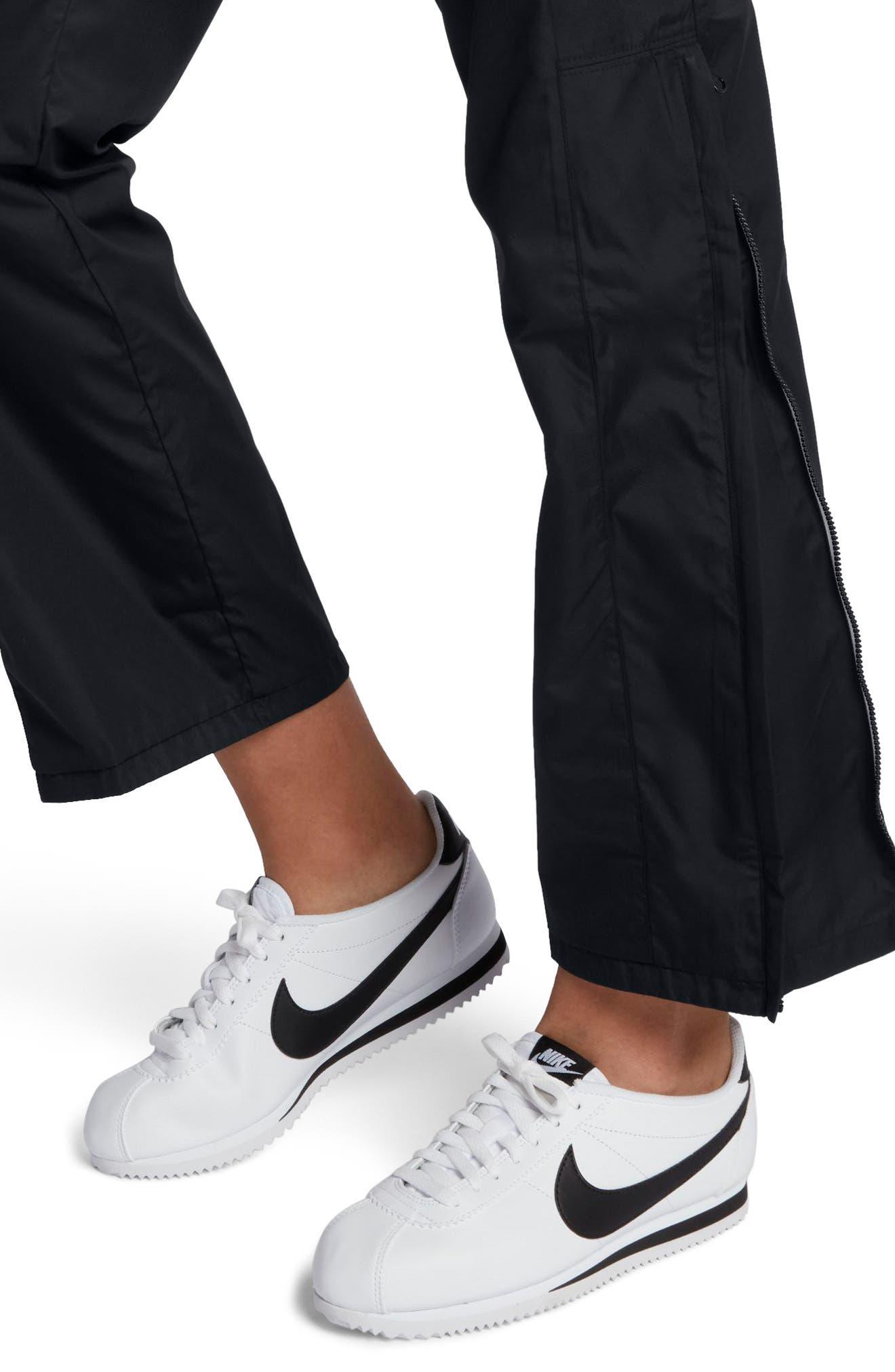 Sportswear Women's Stretch Faille Pants,                             Alternate thumbnail 4, color,                             Black