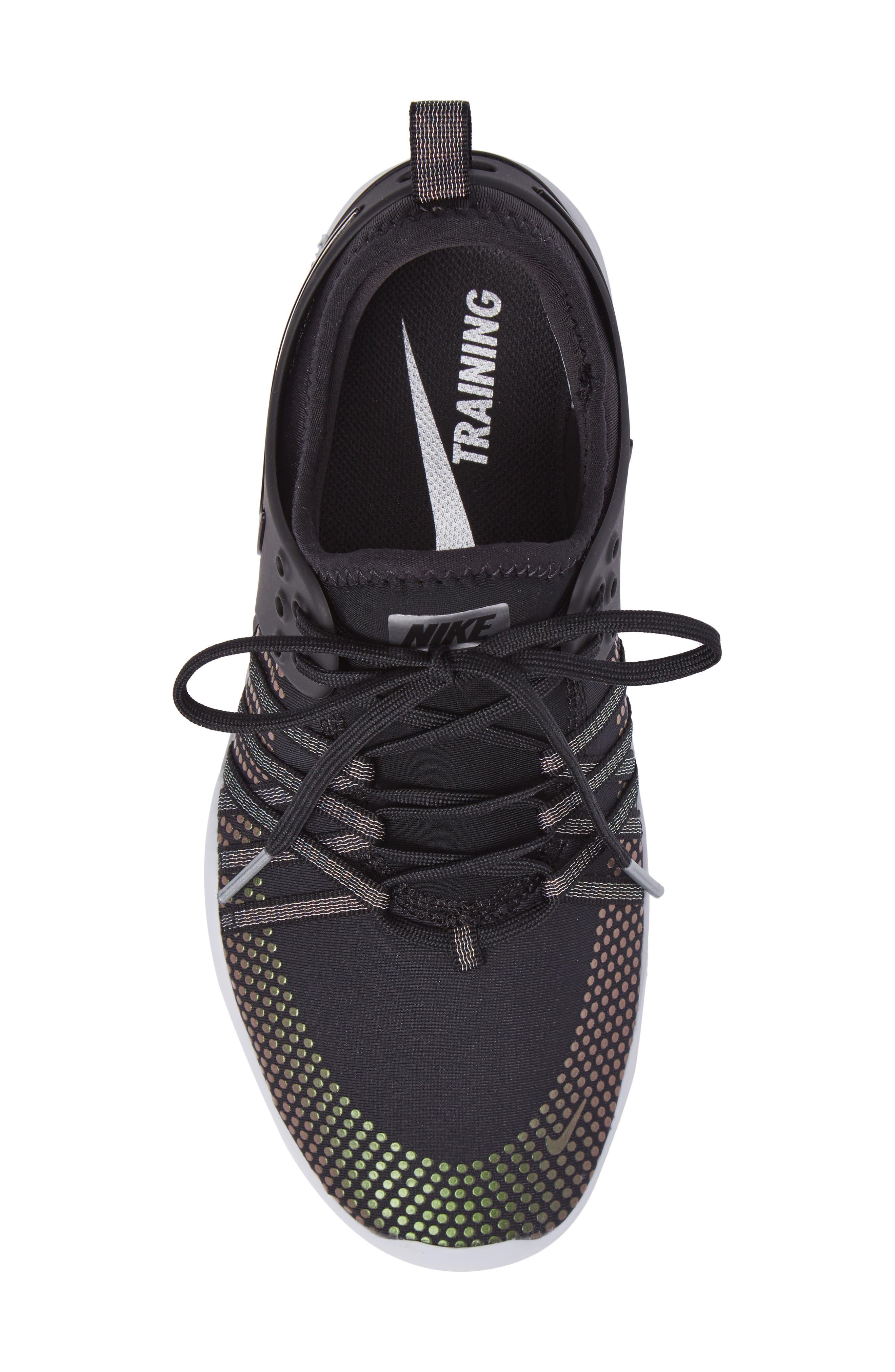 Free TR 7 Metallic Training Shoe,                             Alternate thumbnail 5, color,                             Black/ Black/ Pure Platinum