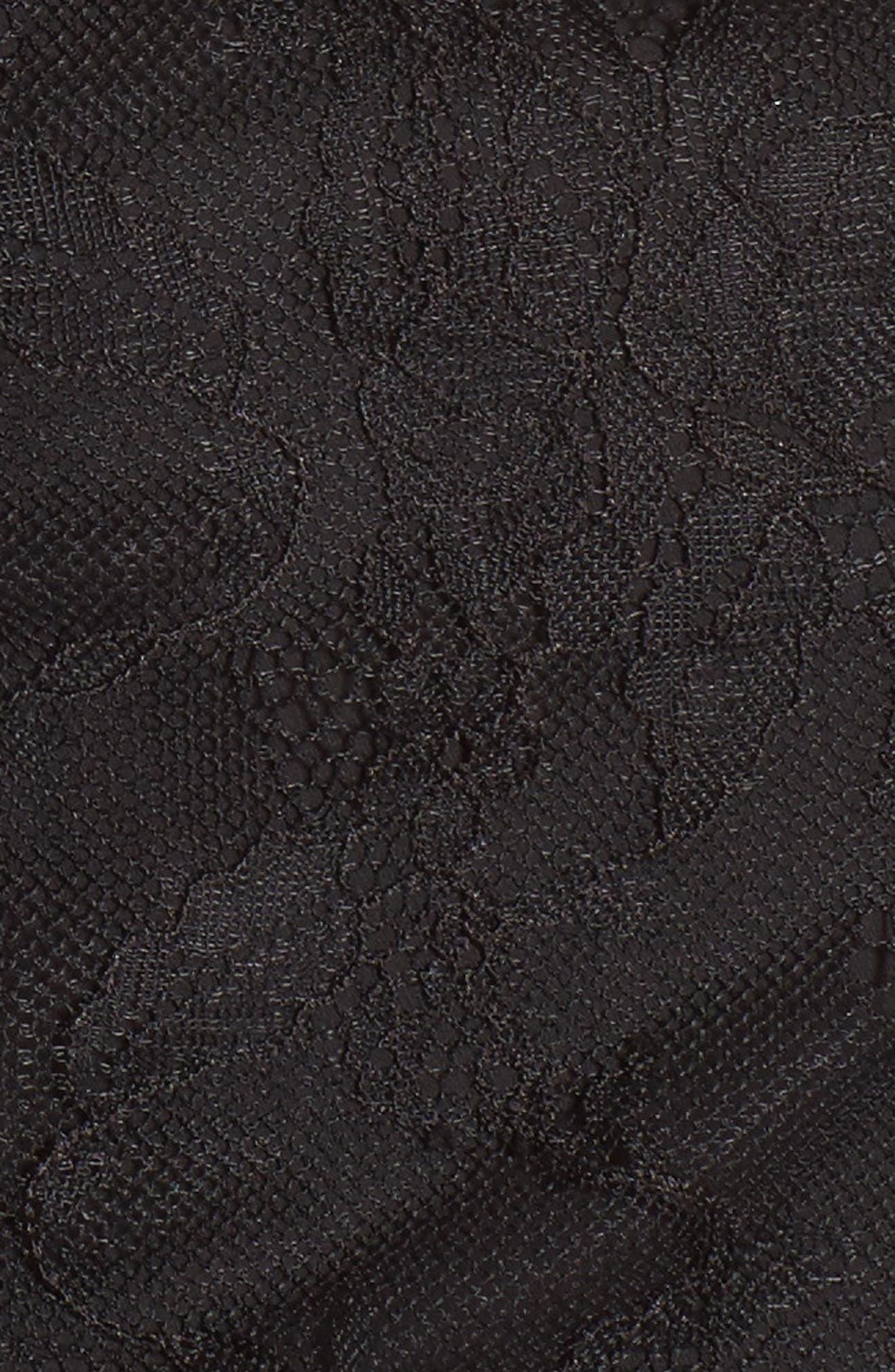 Gianna Ruffle Lace Top,                             Alternate thumbnail 5, color,                             Noir
