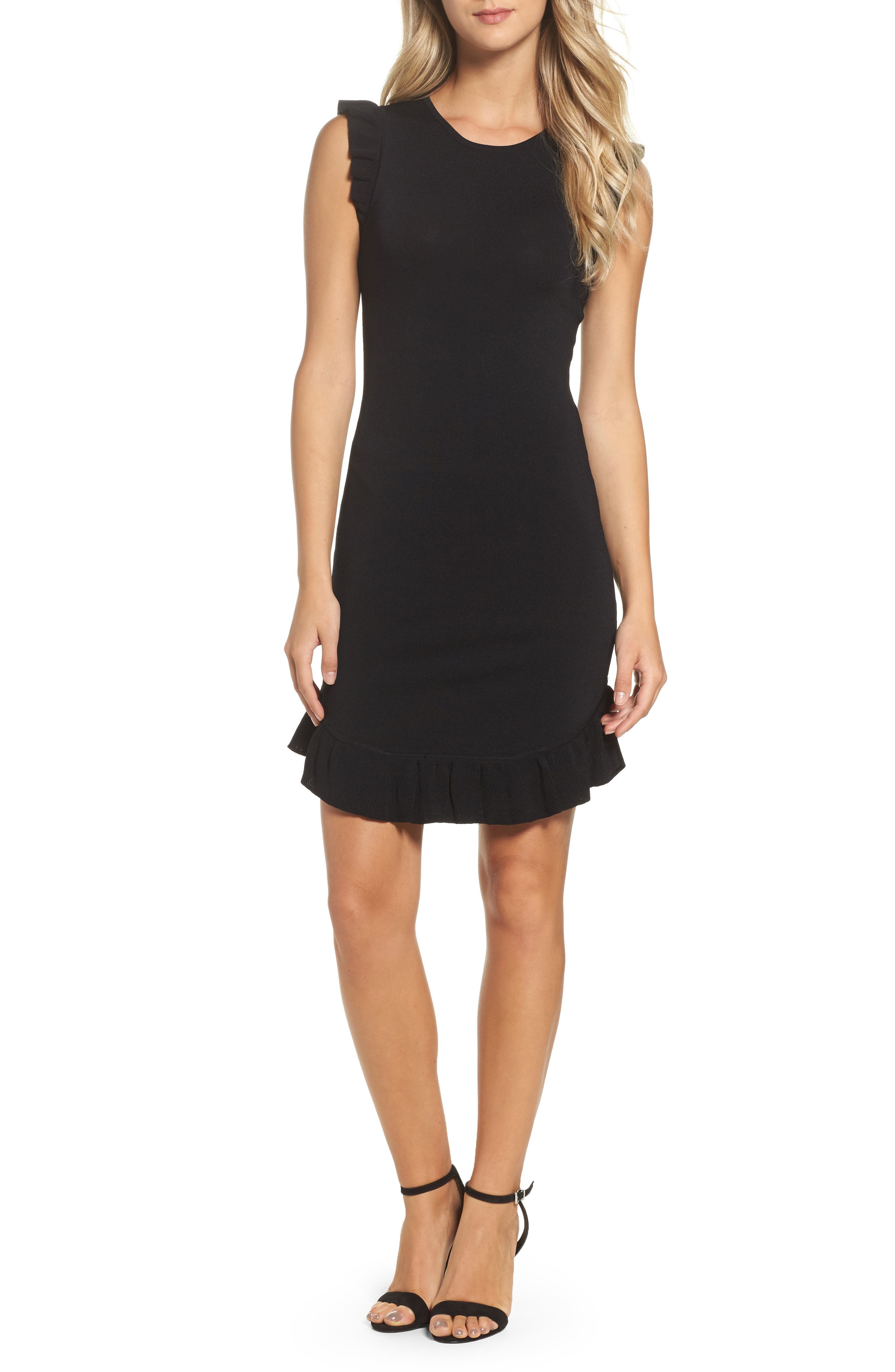 Head Over Heals Sheath Dress,                         Main,                         color, Black