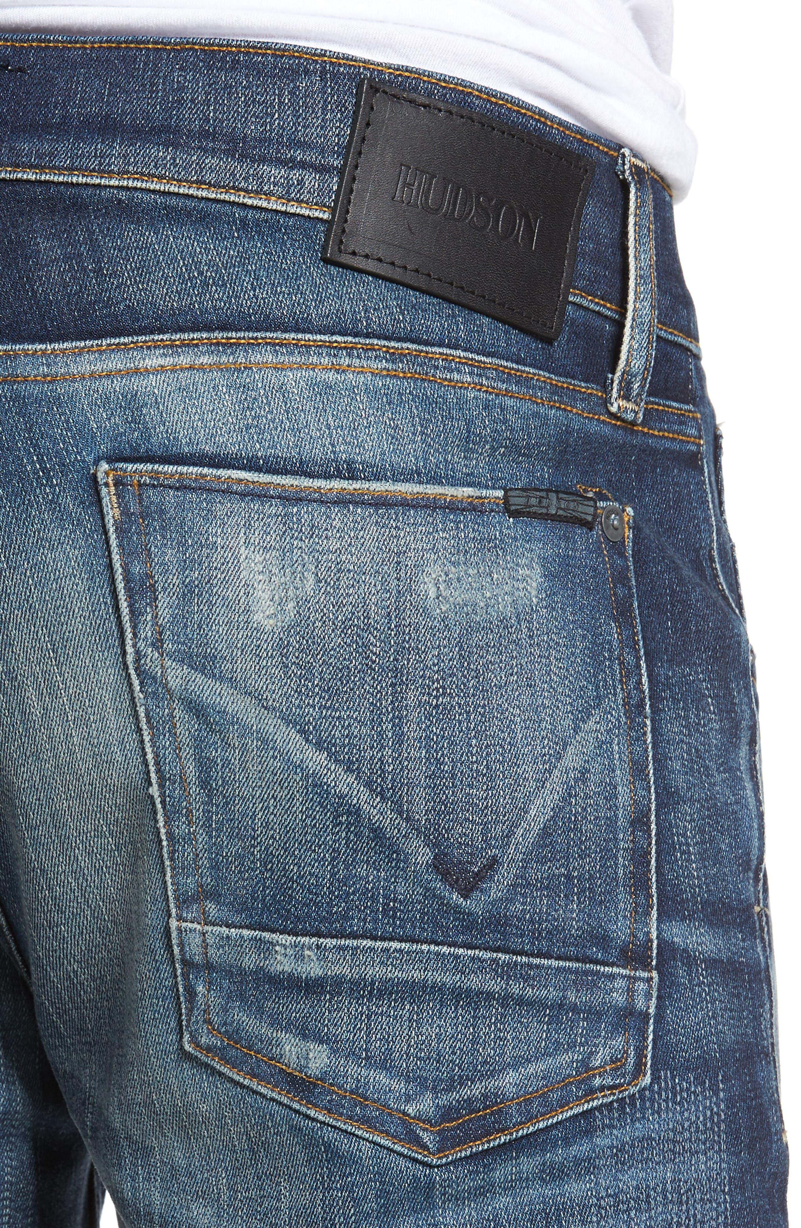 Hudson Blake Slim Fit Jeans,                             Alternate thumbnail 4, color,                             Ban This