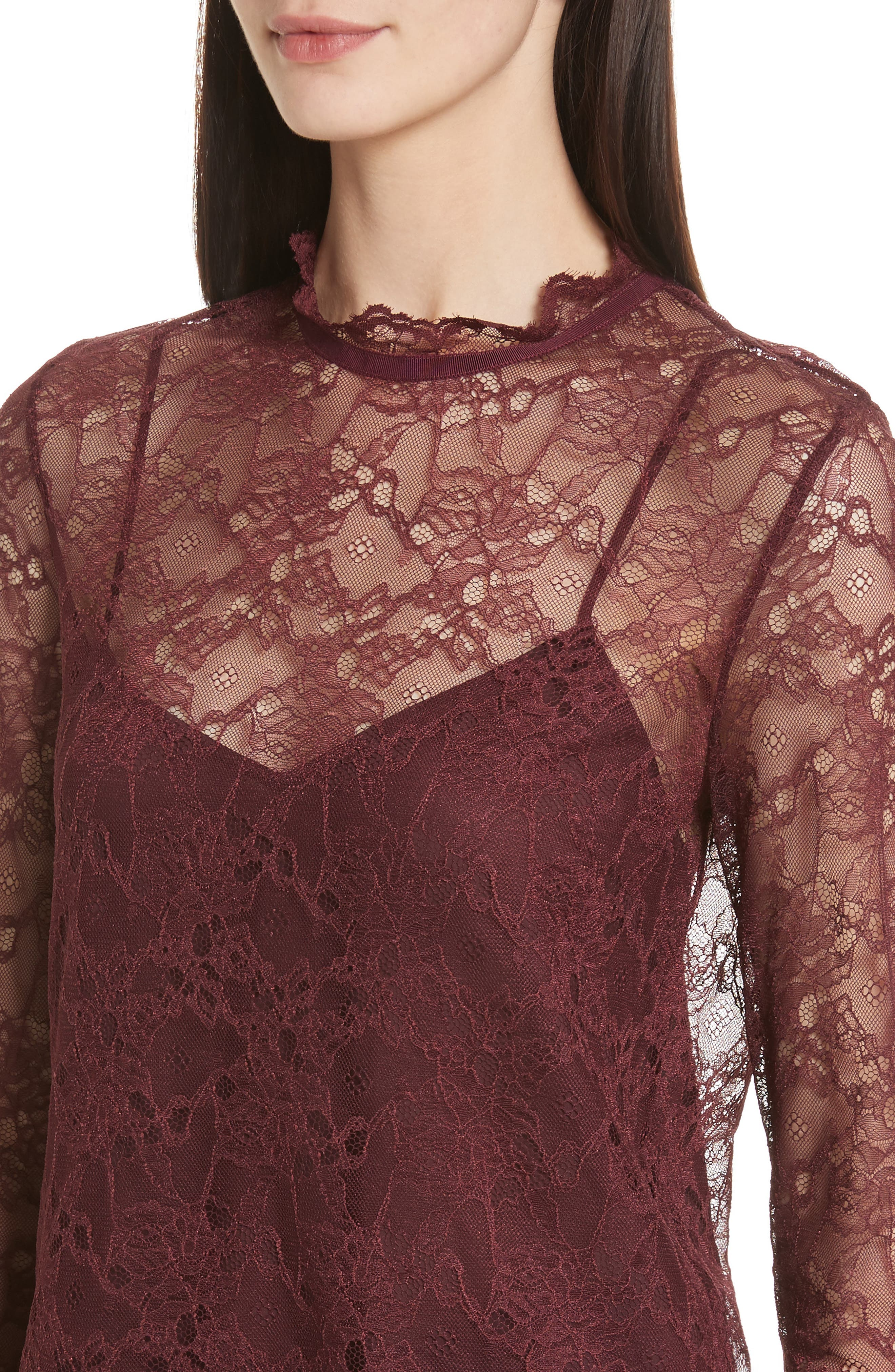 Alternate Image 4  - Theory Lace Top with Tank