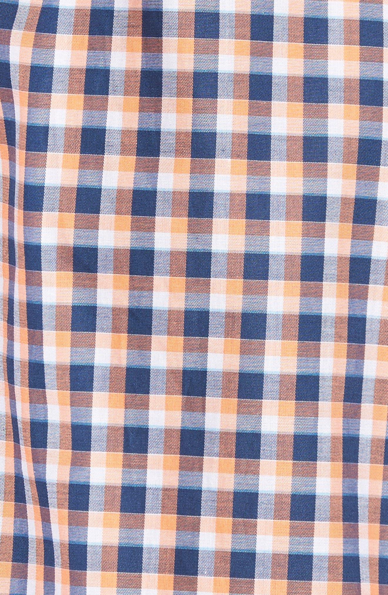 Alternate Image 5  - Culturata Slim Fit Check Twill Sport Shirt