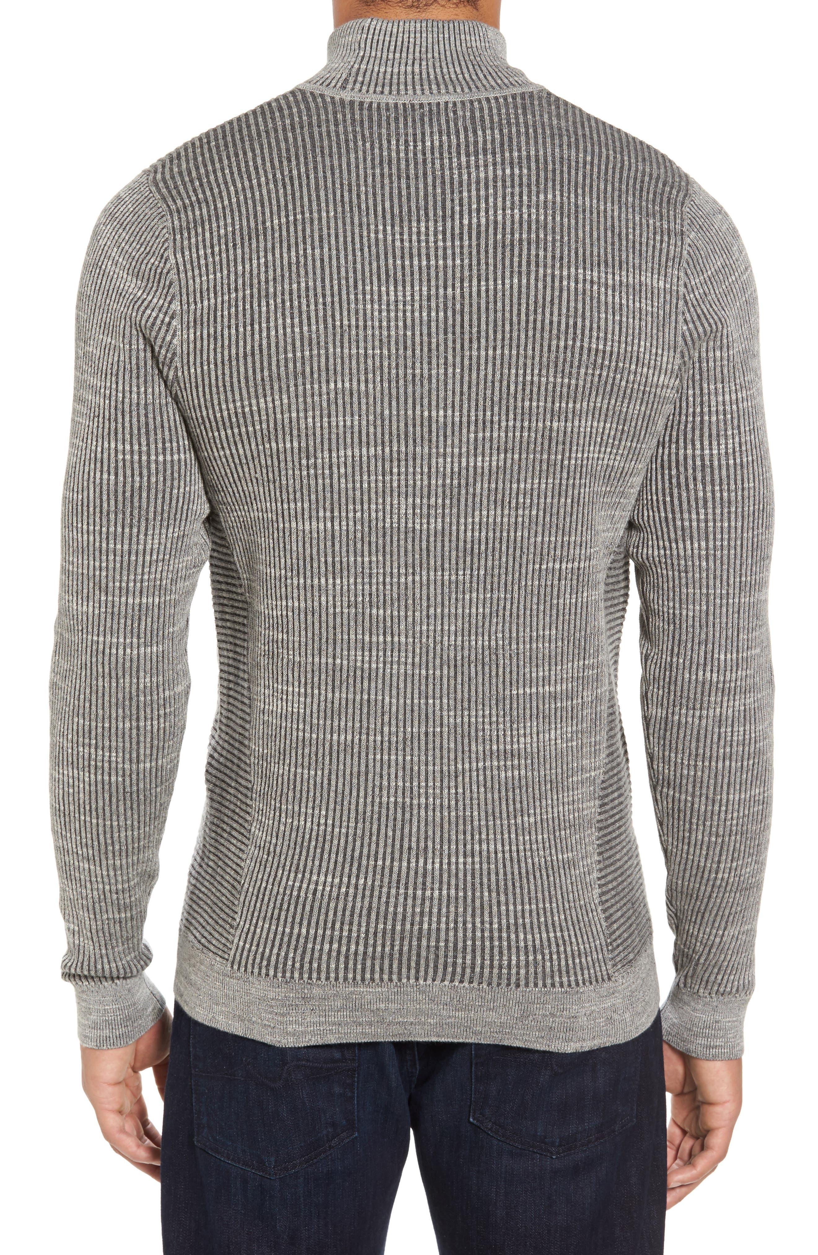 Mock Neck Sweater,                             Alternate thumbnail 2, color,                             Grey Dark Charcoal