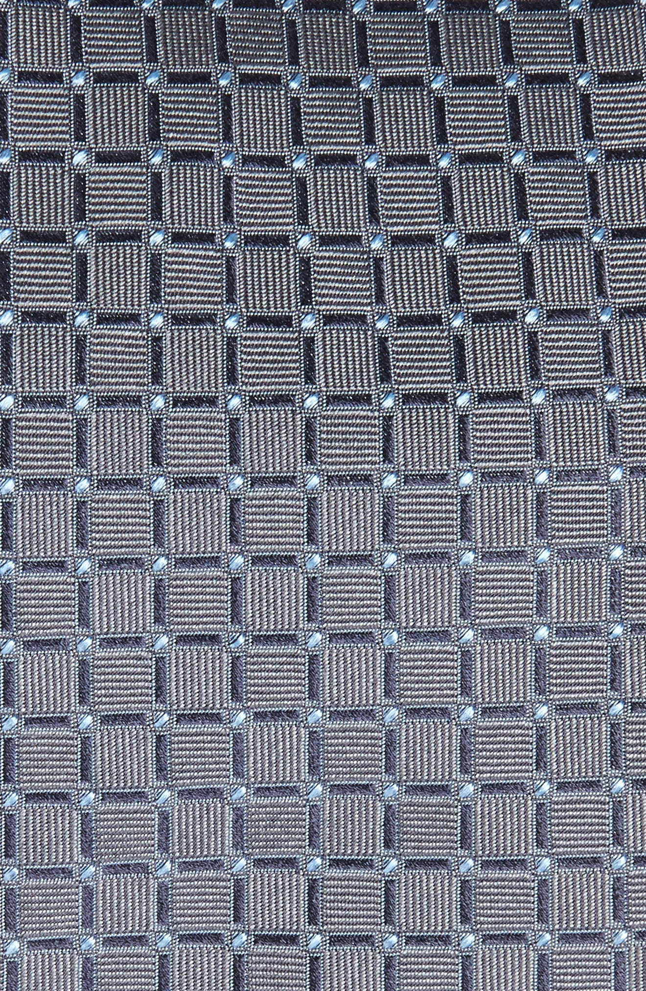 Geometric Silk Tie,                             Alternate thumbnail 2, color,                             Grey