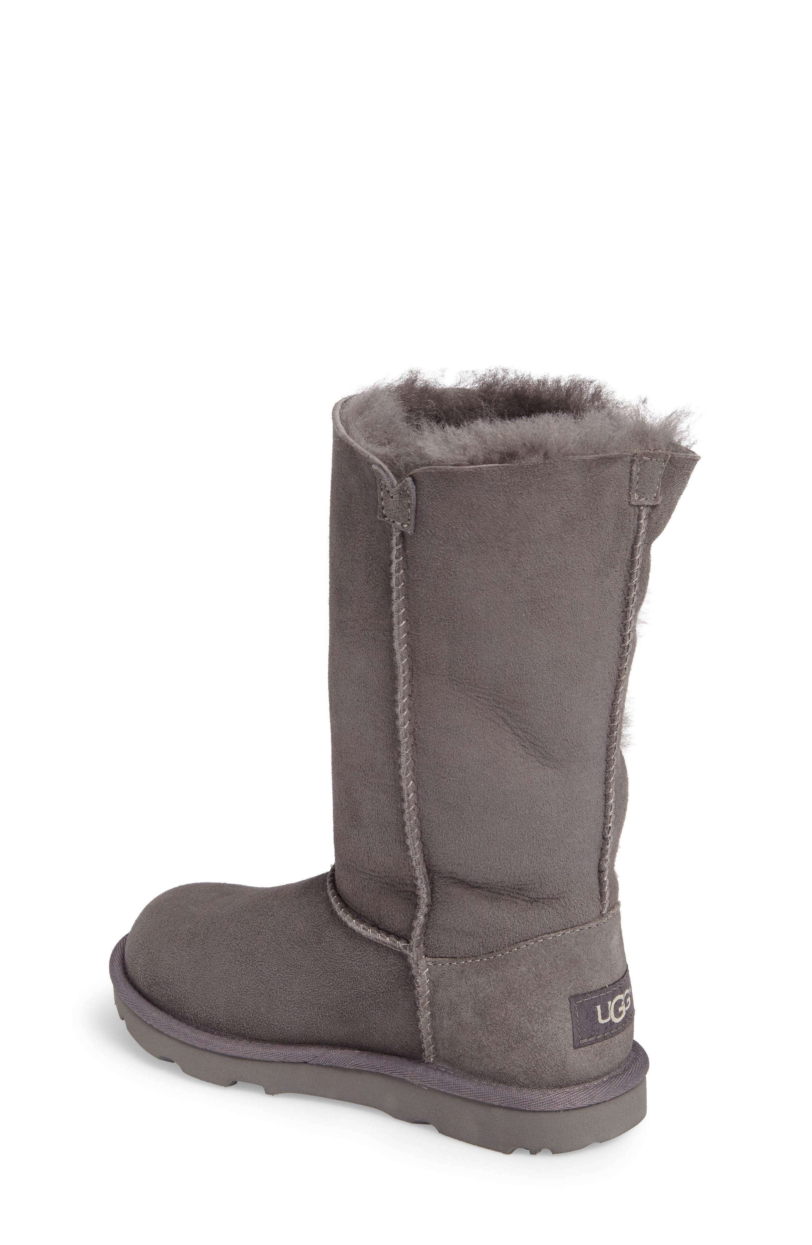 Alternate Image 2  - UGG® Bailey Button Triplet II Genuine Shearling Boot (Little Kid & Big Kid)