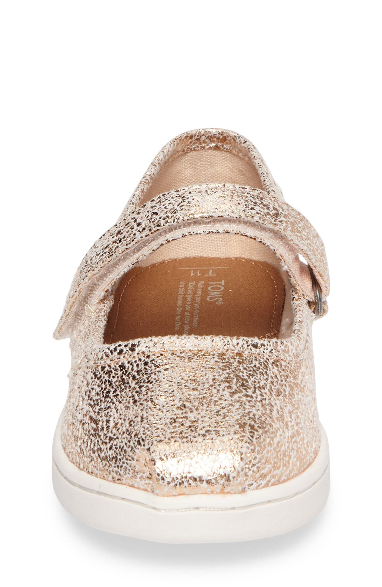 Alternate Image 4  - TOMS Tiny Mary Jane Flat (Baby, Walker & Toddler)