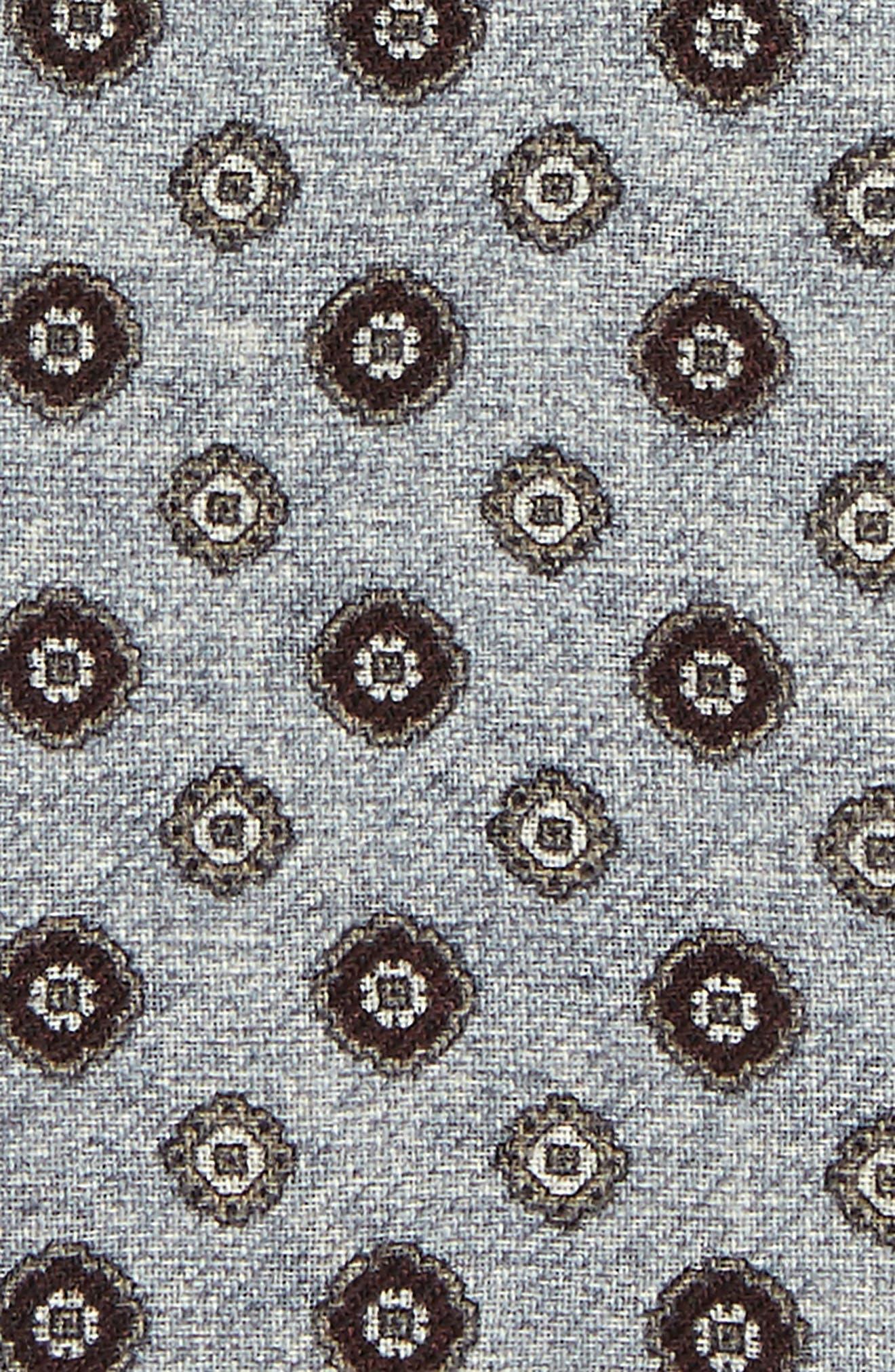 Alternate Image 3  - Eleventy Medallion Wool Pocket Square