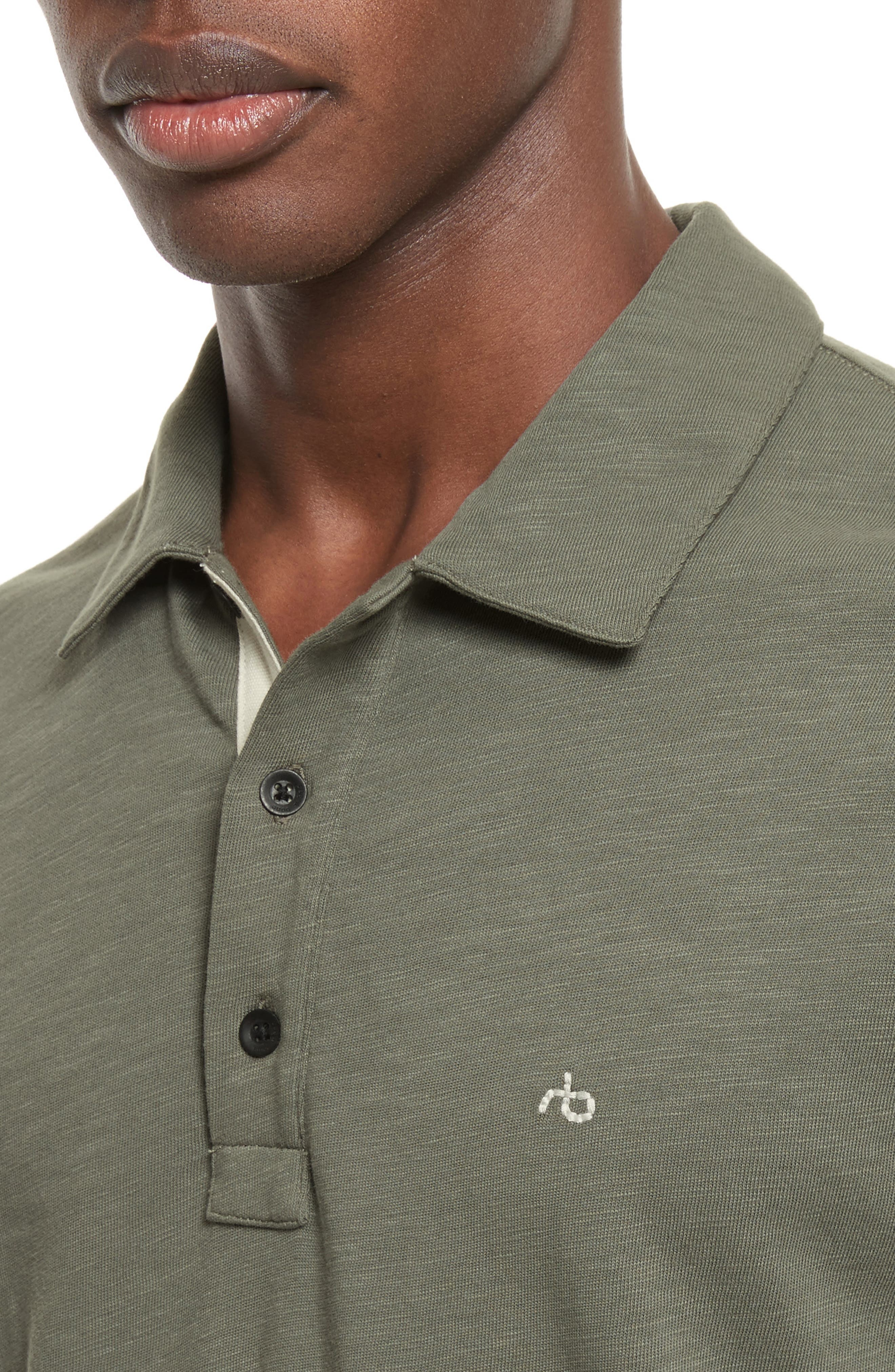 Alternate Image 4  - rag & bone Standard Issue Slub Jersey Polo