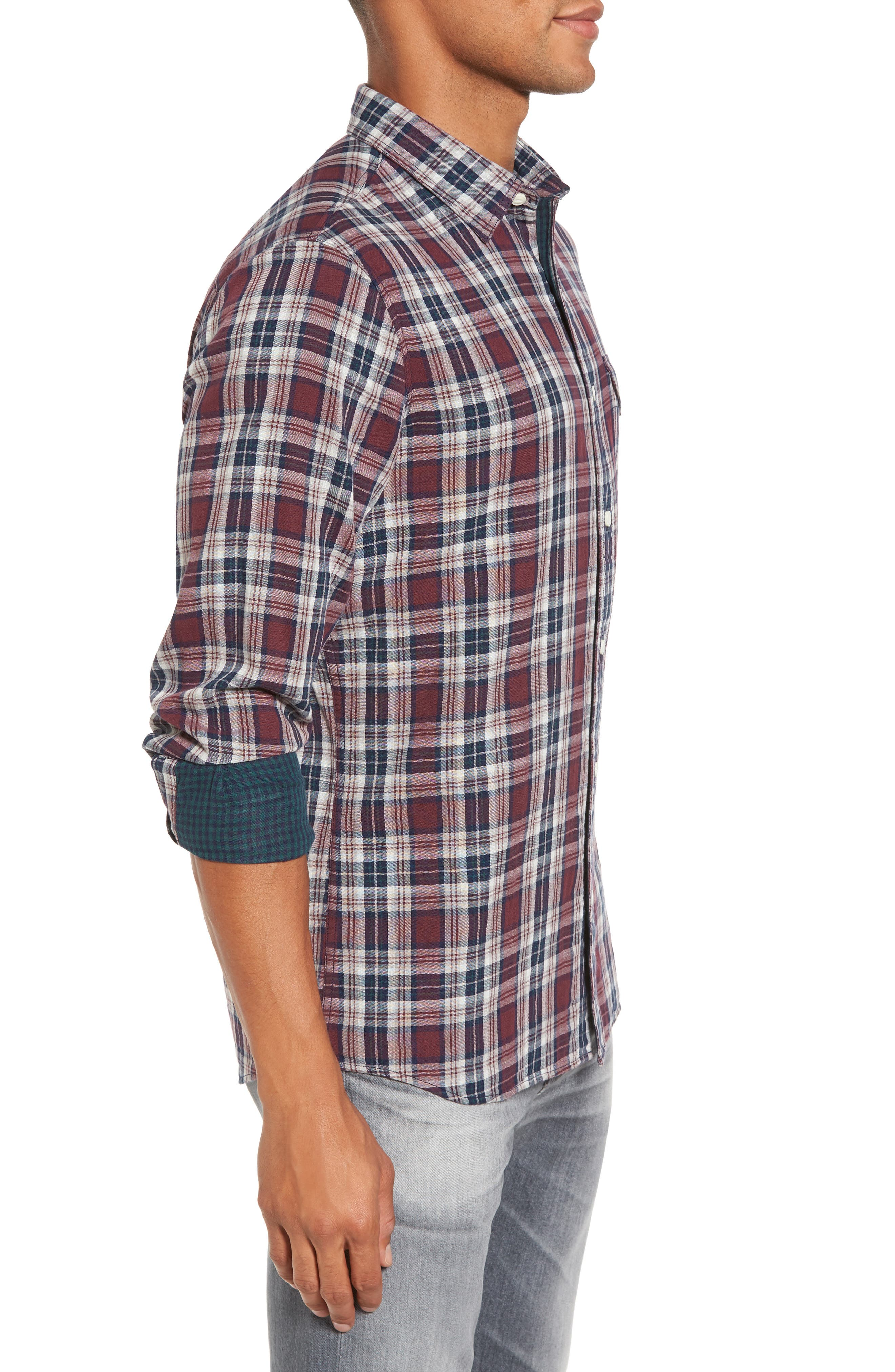 Alternate Image 3  - Nordstrom Men's Shop Lumber Duofold Slim Fit Plaid Shirt