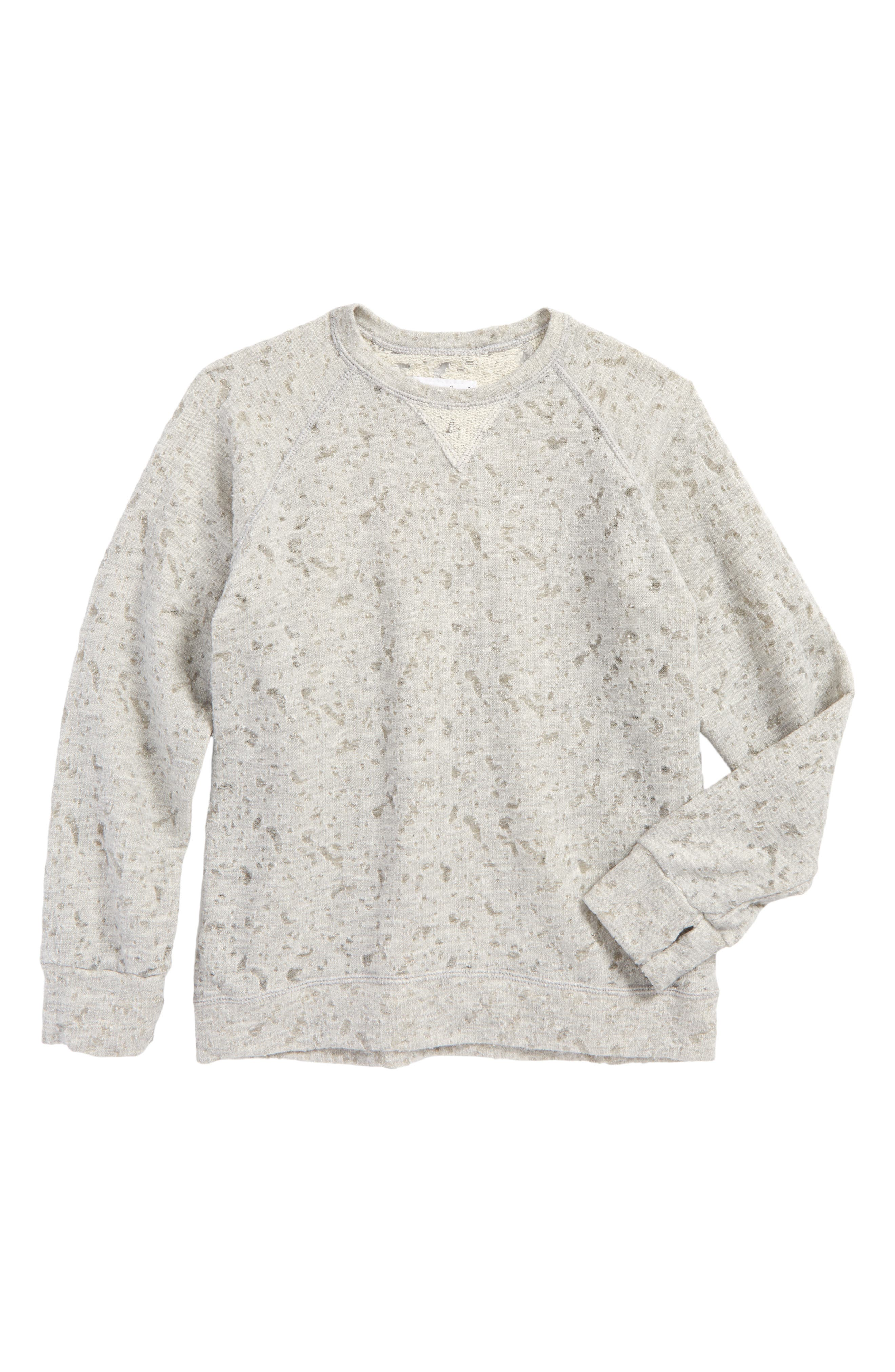 Alternate Image 1 Selected - NUNUNU Deconstructed Sweatshirt (Toddler Boys & Little Boys)