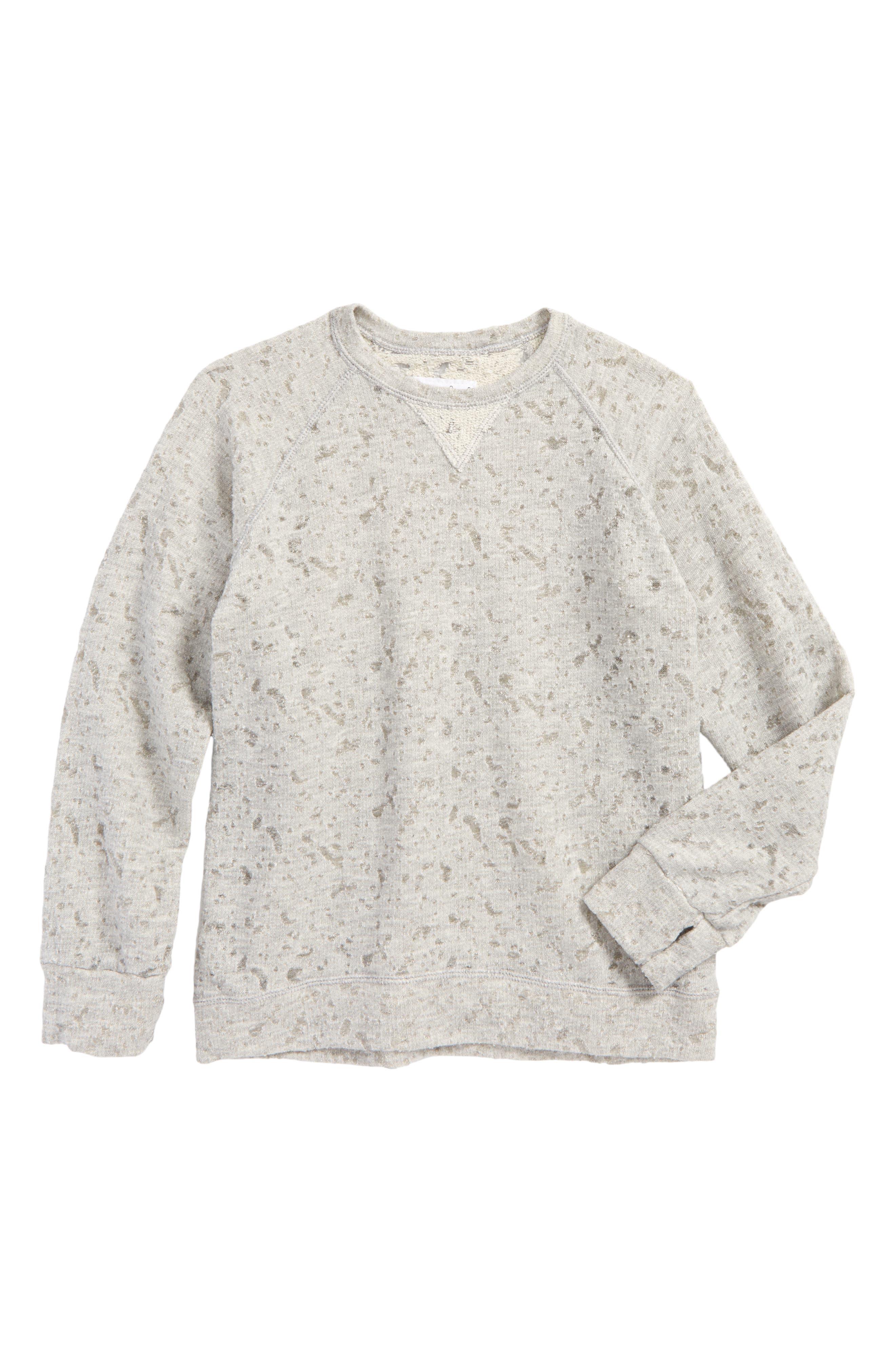 Deconstructed Sweatshirt,                         Main,                         color, Light Grey