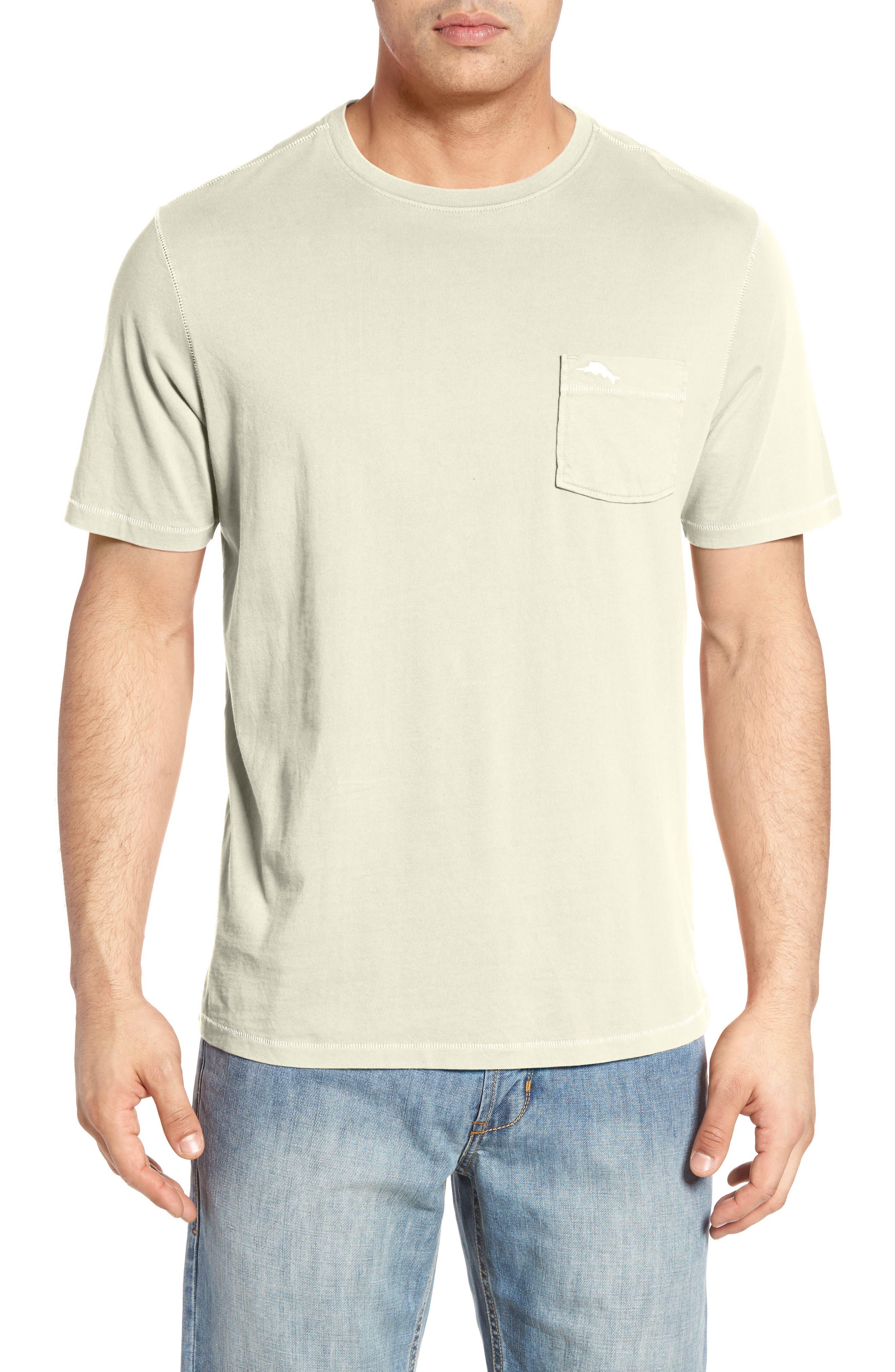 'New Bahama Reef' Island Modern Fit Pima Cotton Pocket T-Shirt,                         Main,                         color, Coconut