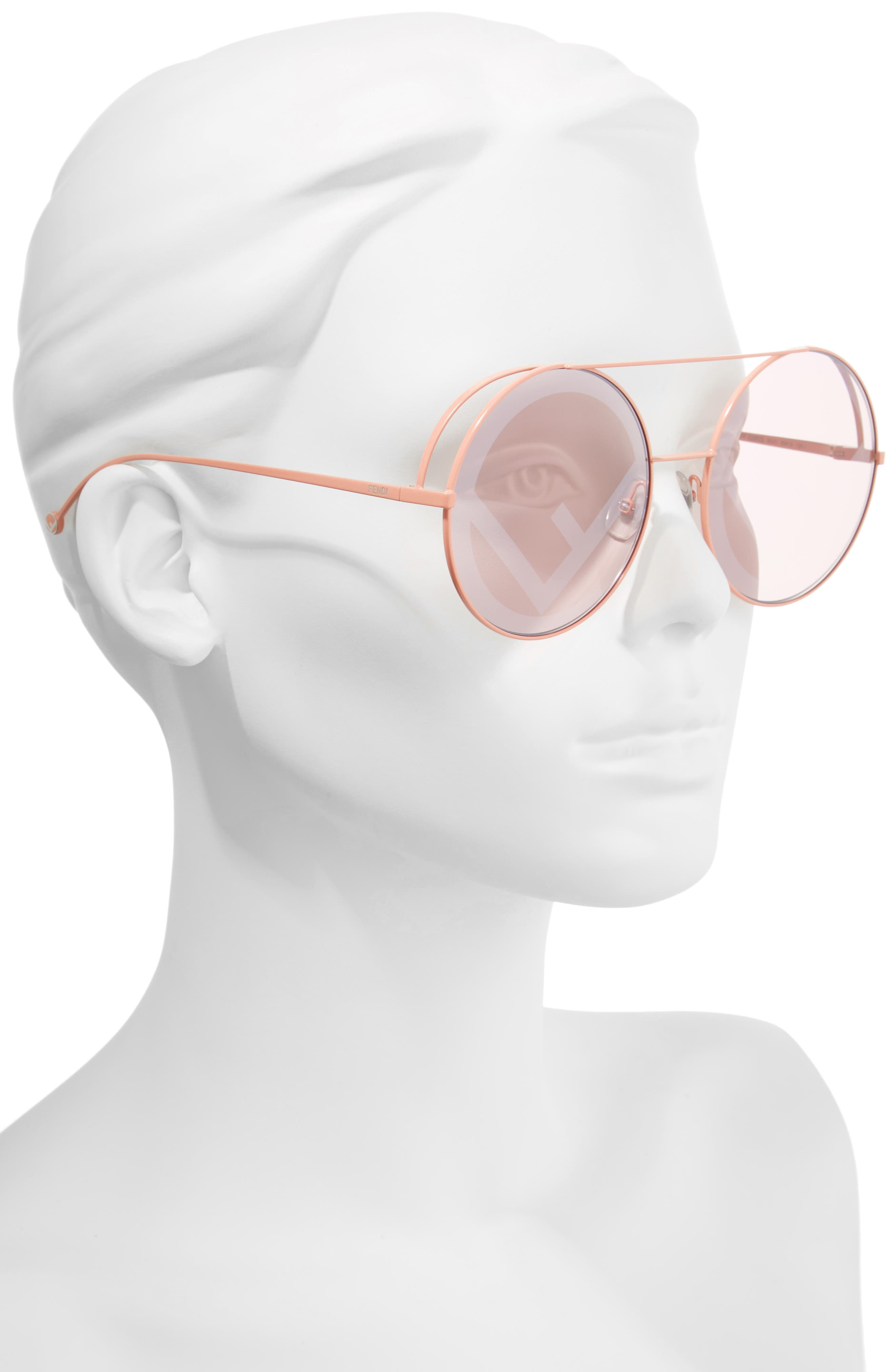 Alternate Image 2  - Fendi Run Away 63mm Round Sunglasses