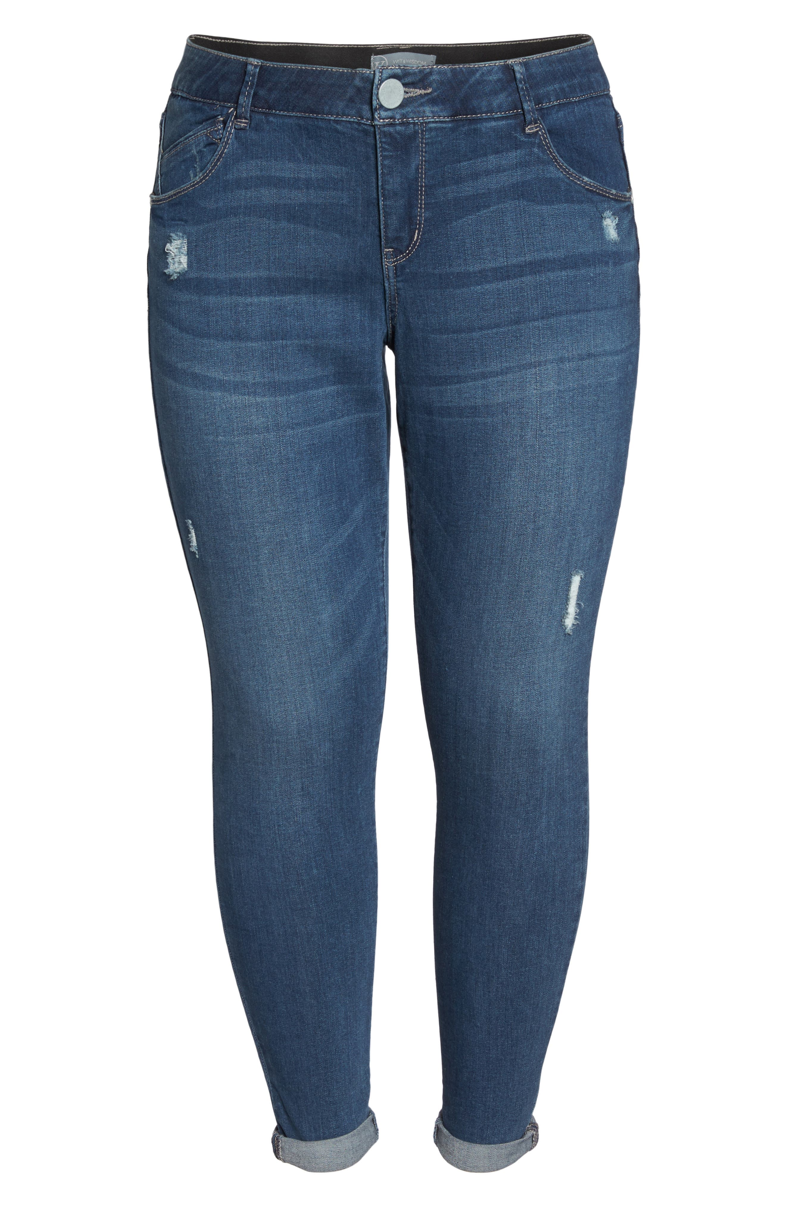 Alternate Image 6  - Wit & Wisdom Ab-solution Boyfriend Ankle Jeans (Plus Size) (Nordstrom Exclusive)