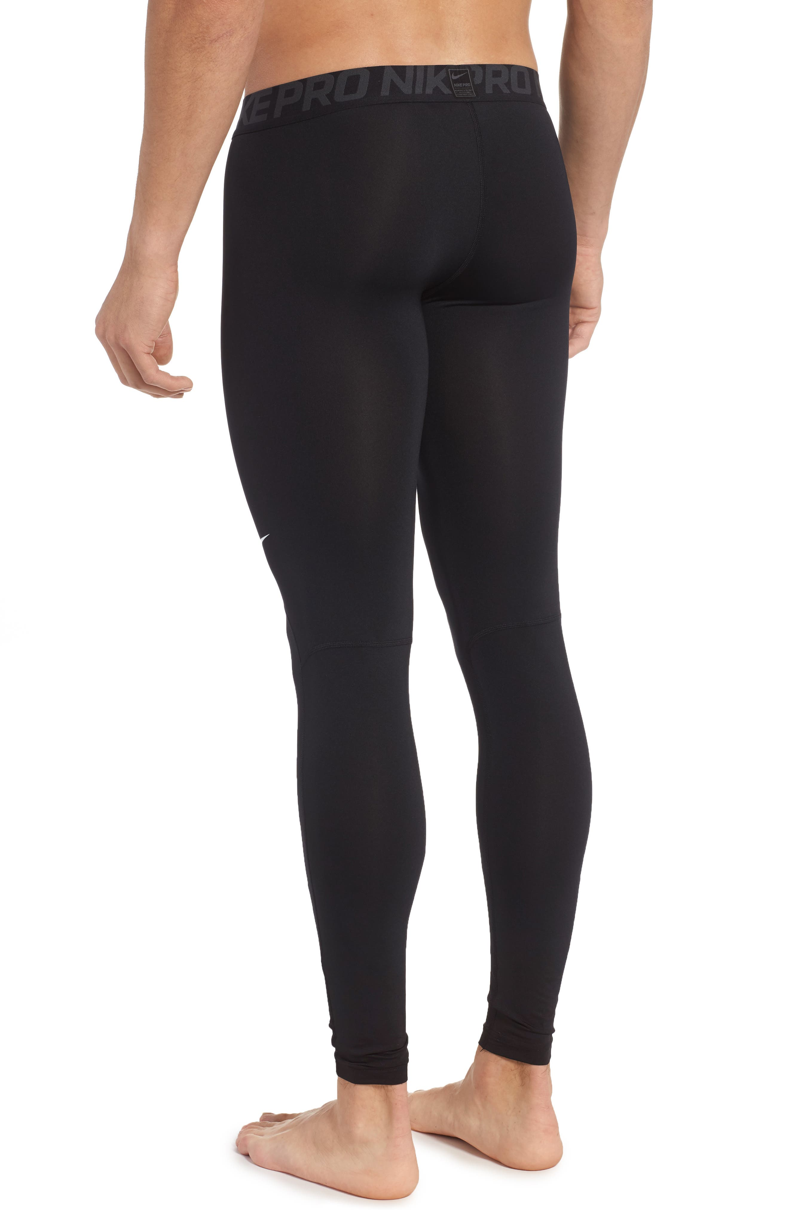 Pro Athletic Tights,                             Alternate thumbnail 2, color,                             Black/ Anthracite/ White