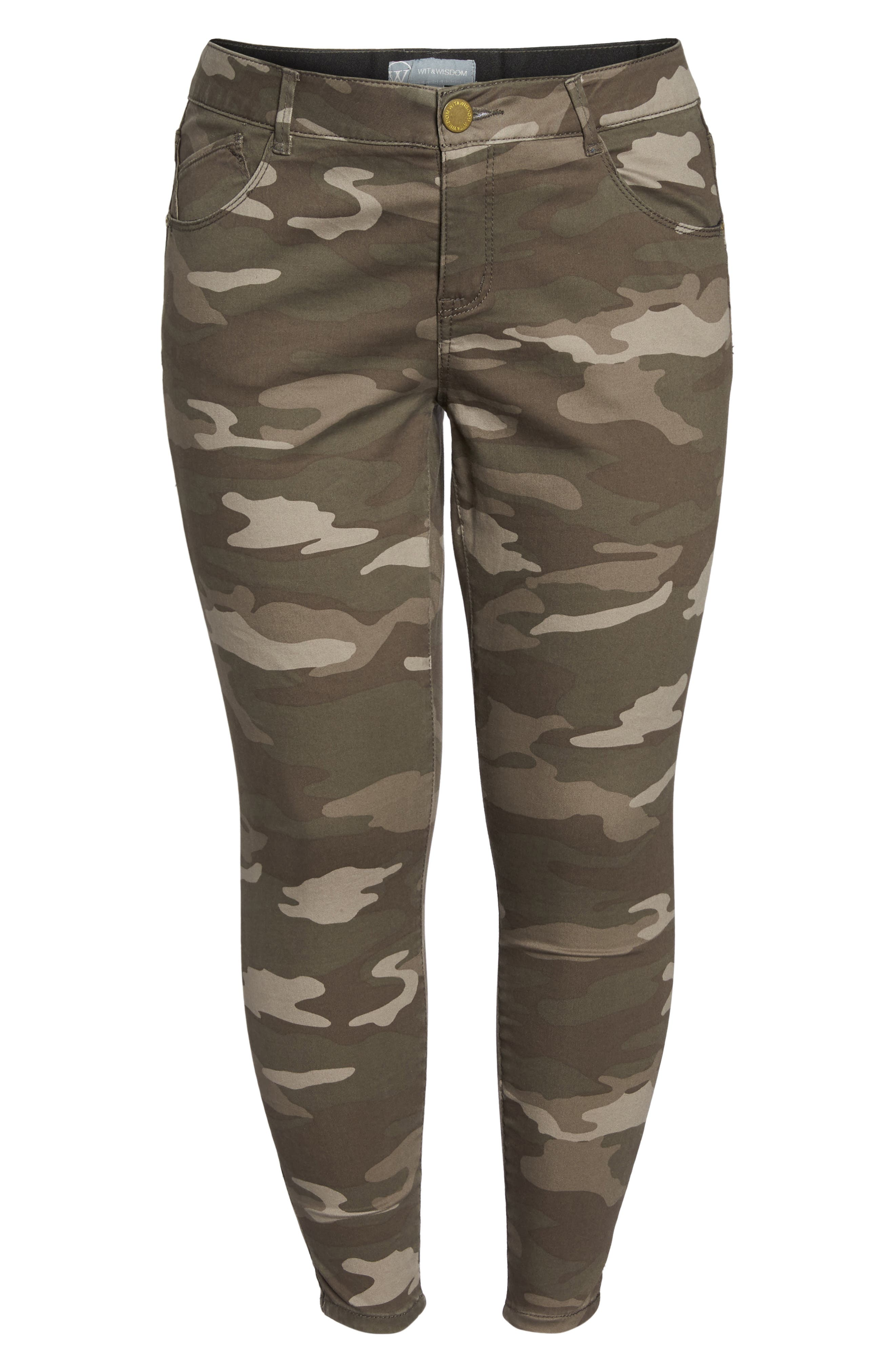 Alternate Image 6  - Wit & Wisdom Ab-solution Camo Skinny Pants (Plus Size) (Nordstrom Exclusive)