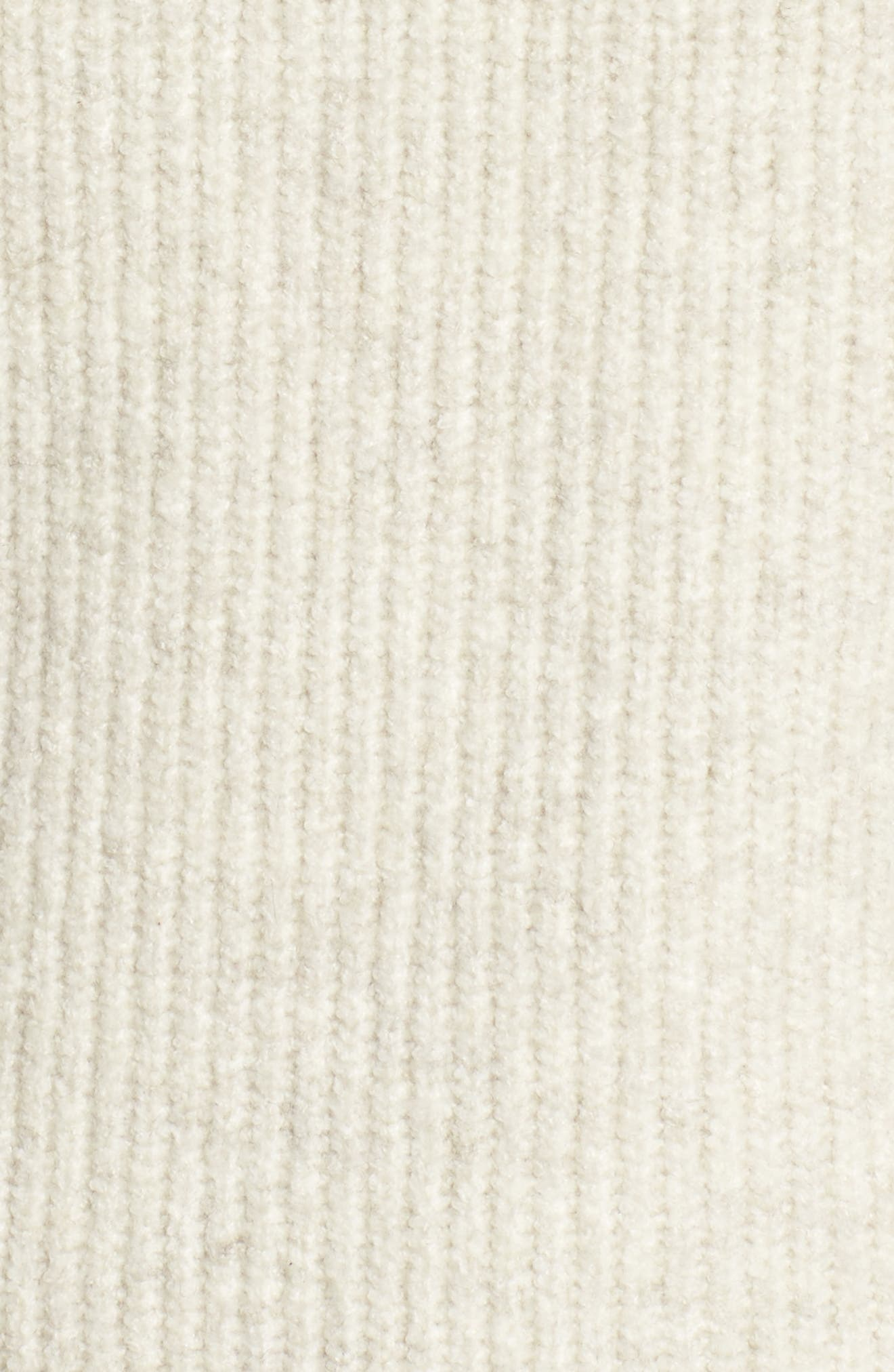 Ribbed Mock Neck Sweater,                             Alternate thumbnail 5, color,                             Beige Oatmeal Heather