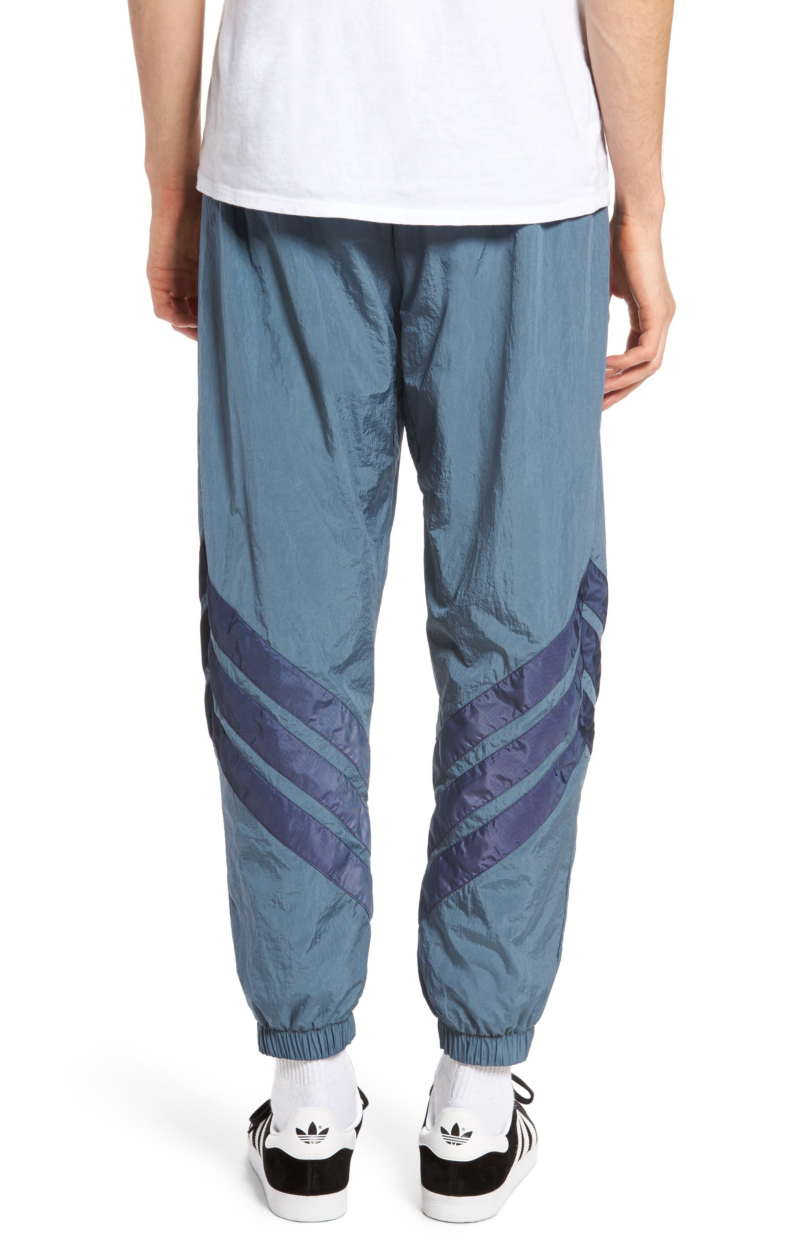 Originals V-Stripe Windpants,                             Alternate thumbnail 2, color,                             Raw Steel/ White