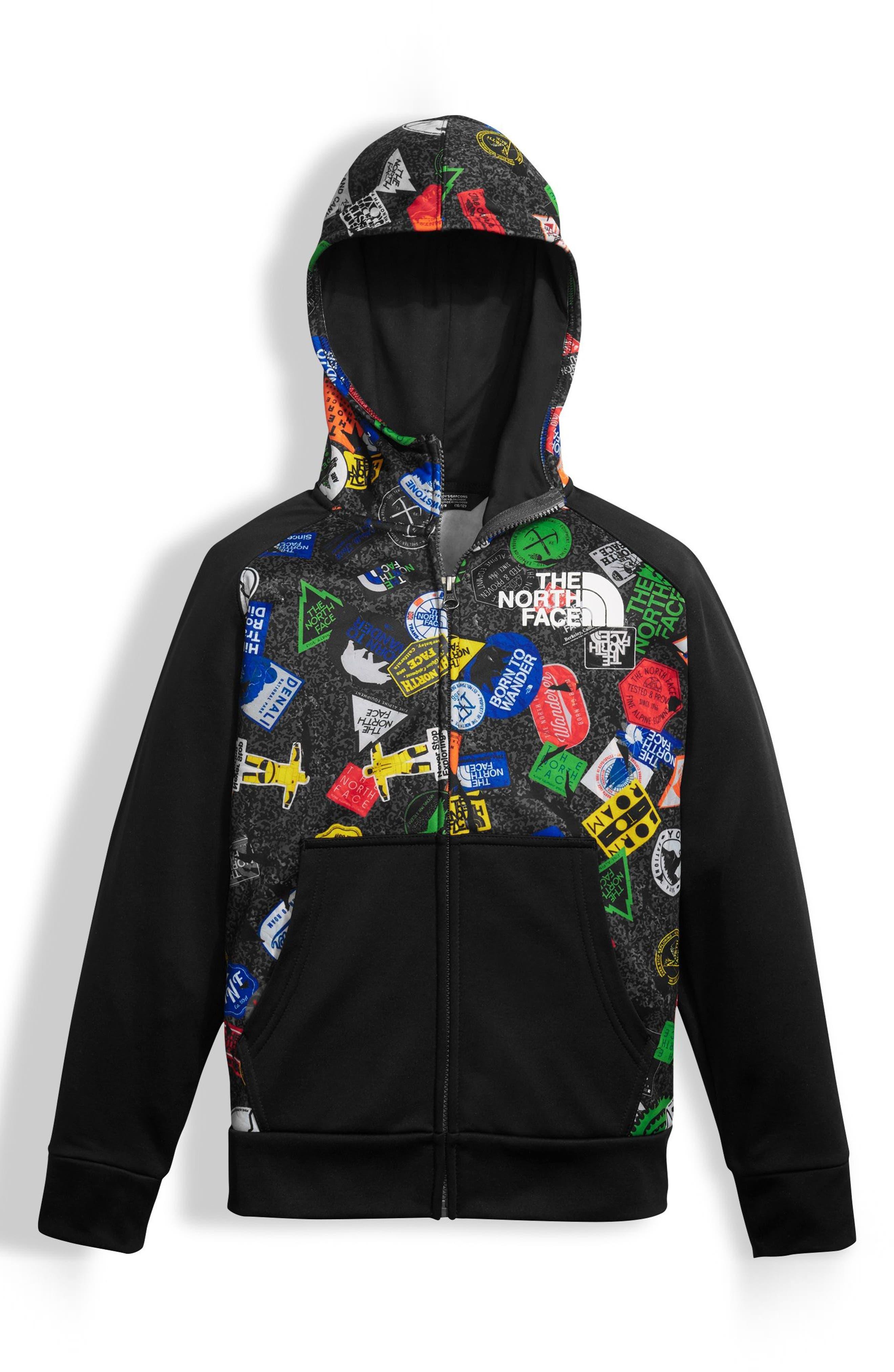 'Surgent' Full Zip Hoodie,                         Main,                         color, Black
