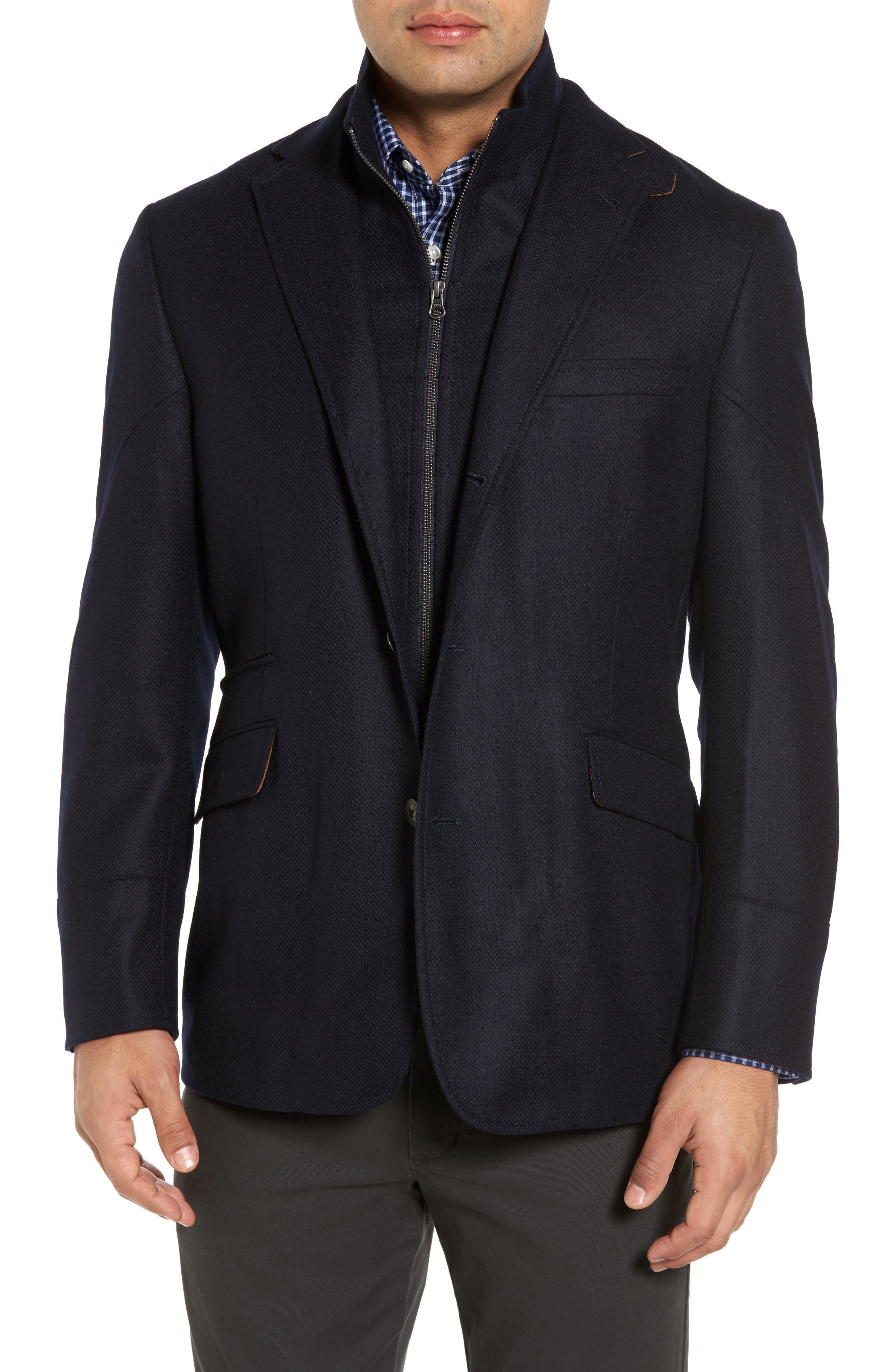 Ritchie Aim Hybrid Classic Fit Wool & Cashmere Sport Coat,                             Main thumbnail 1, color,                             Navy