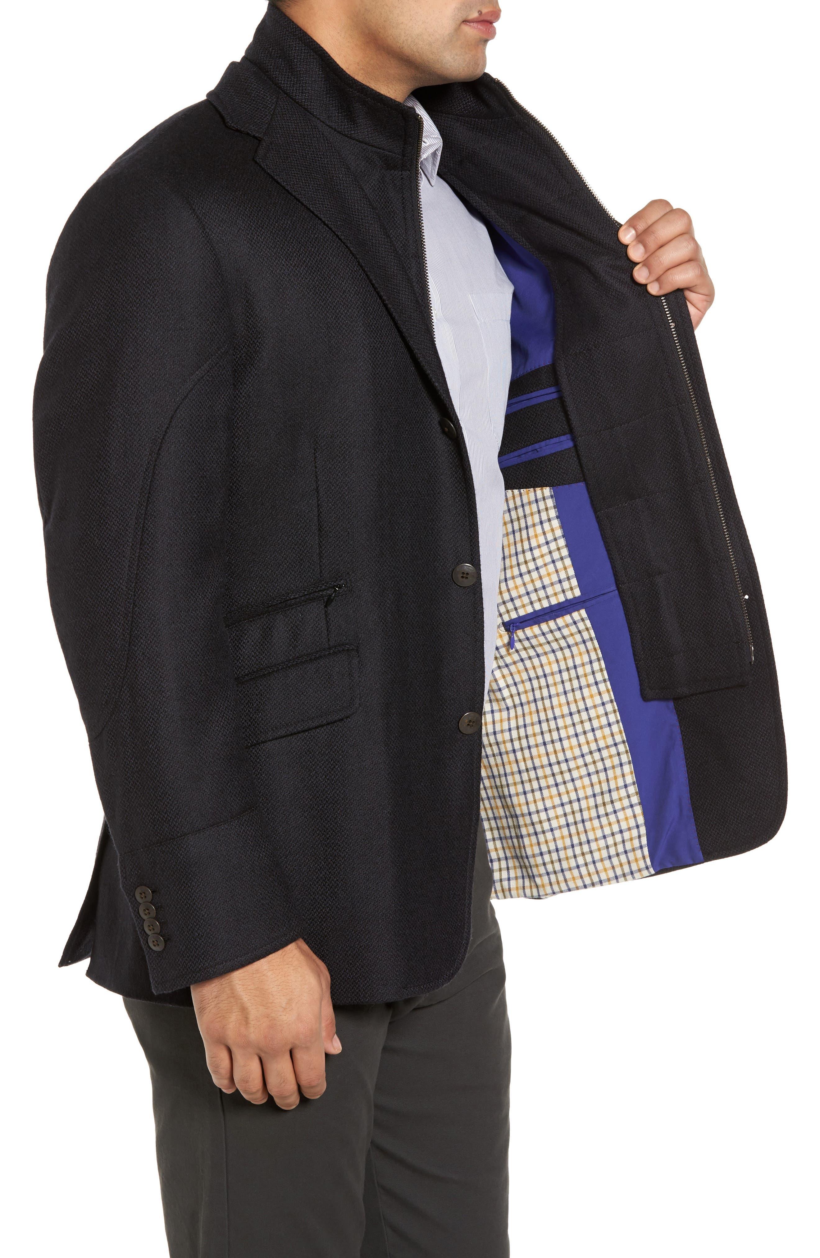 Ritchie Aim Hybrid Classic Fit Wool & Cashmere Sport Coat,                             Alternate thumbnail 3, color,                             Black