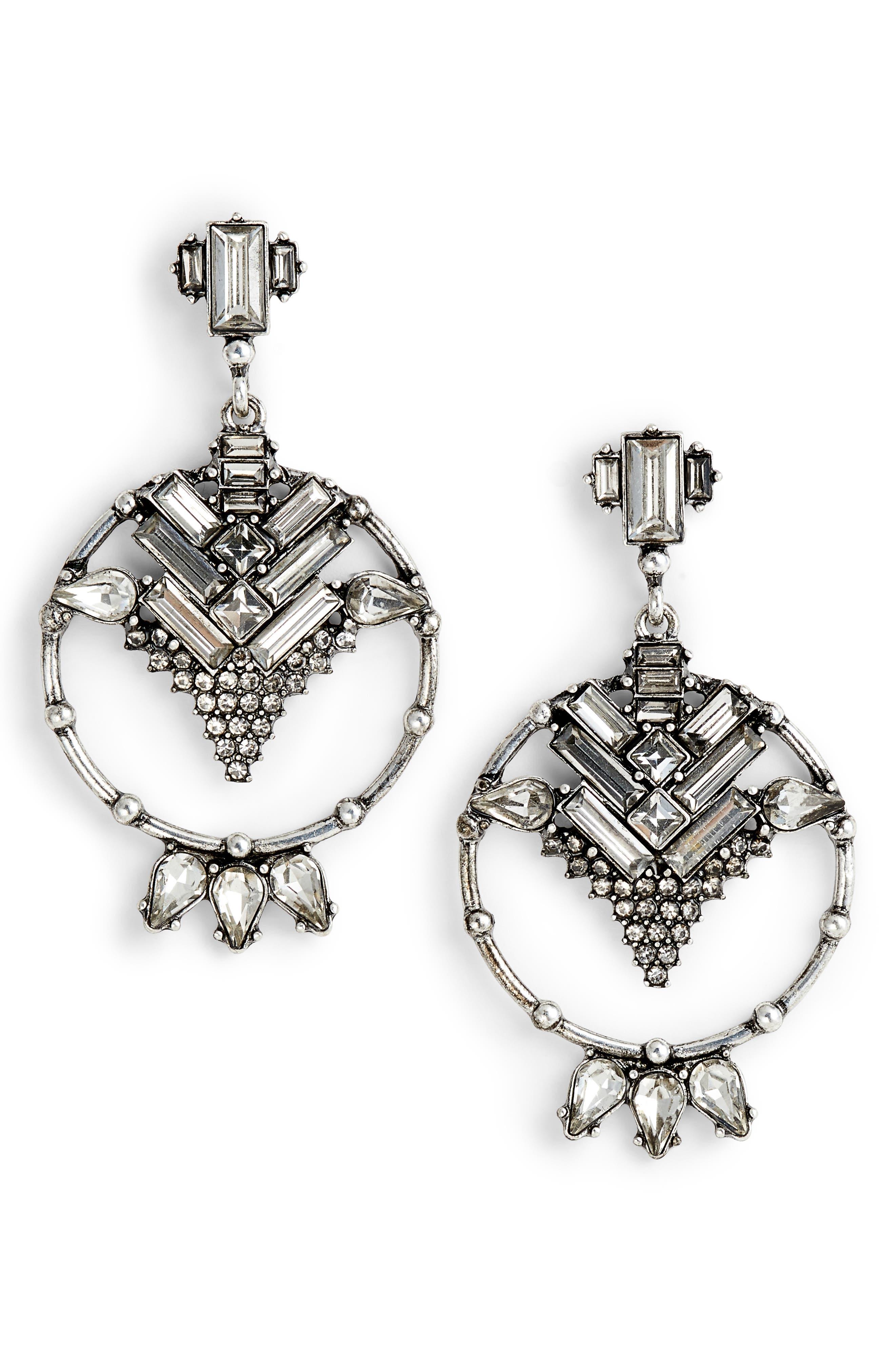 DLNLX BY DYLANLEX Crystal Drop Earrings