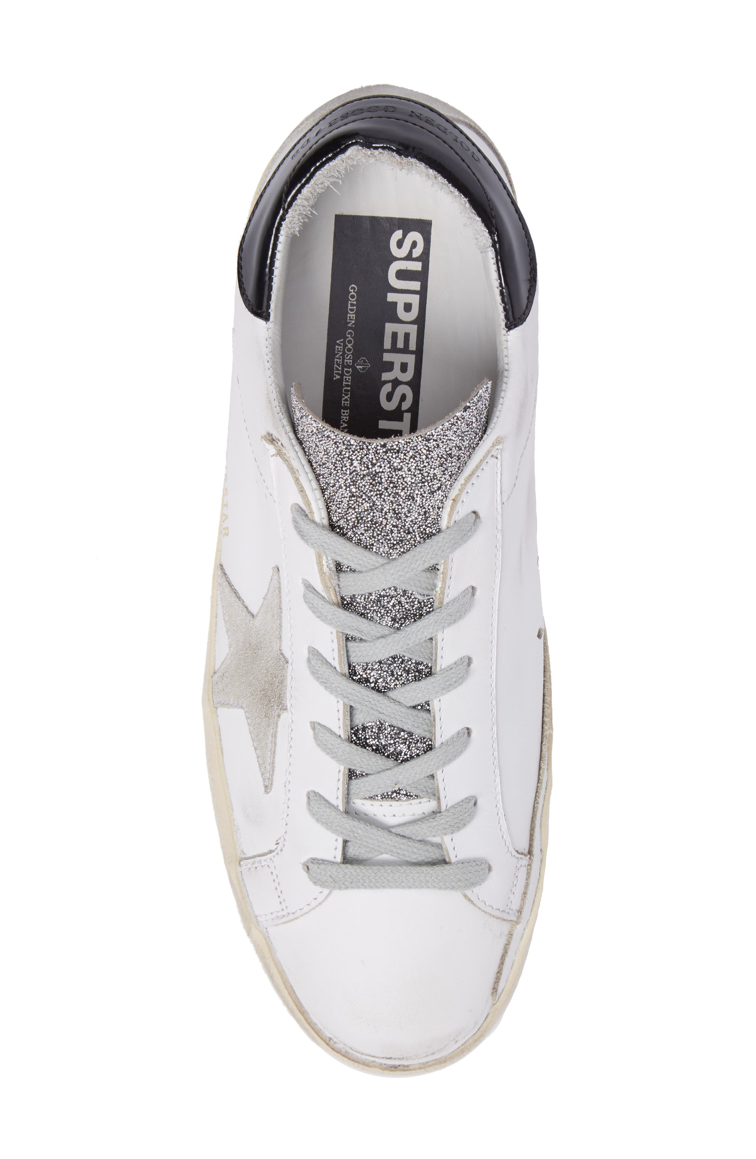 Superstar Low Top Sneaker,                             Alternate thumbnail 4, color,                             White