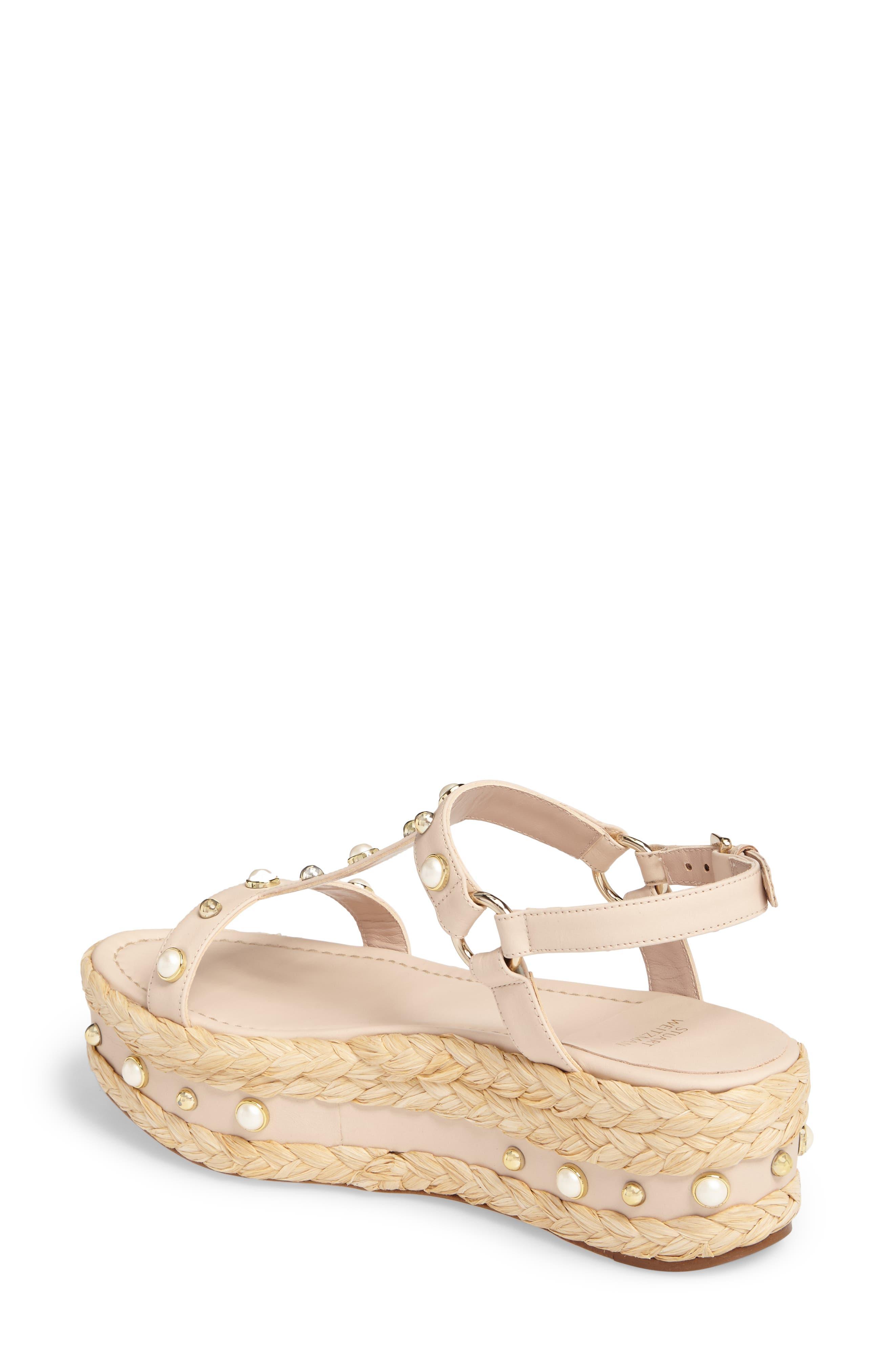 Alternate Image 2  - Stuart Weitzman Beraffia Platform Sandal (Women)