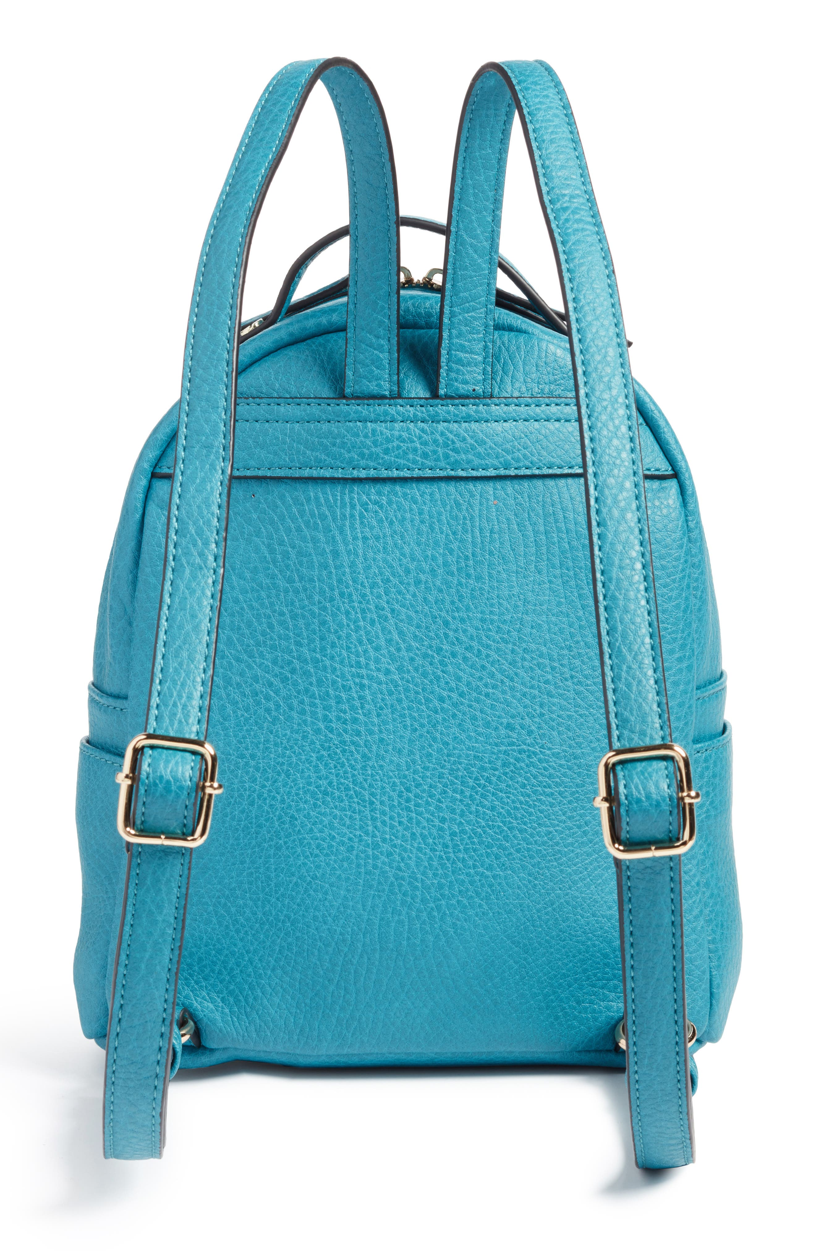 Mali + Lili Vegan Leather Backpack,                             Alternate thumbnail 3, color,                             Blue