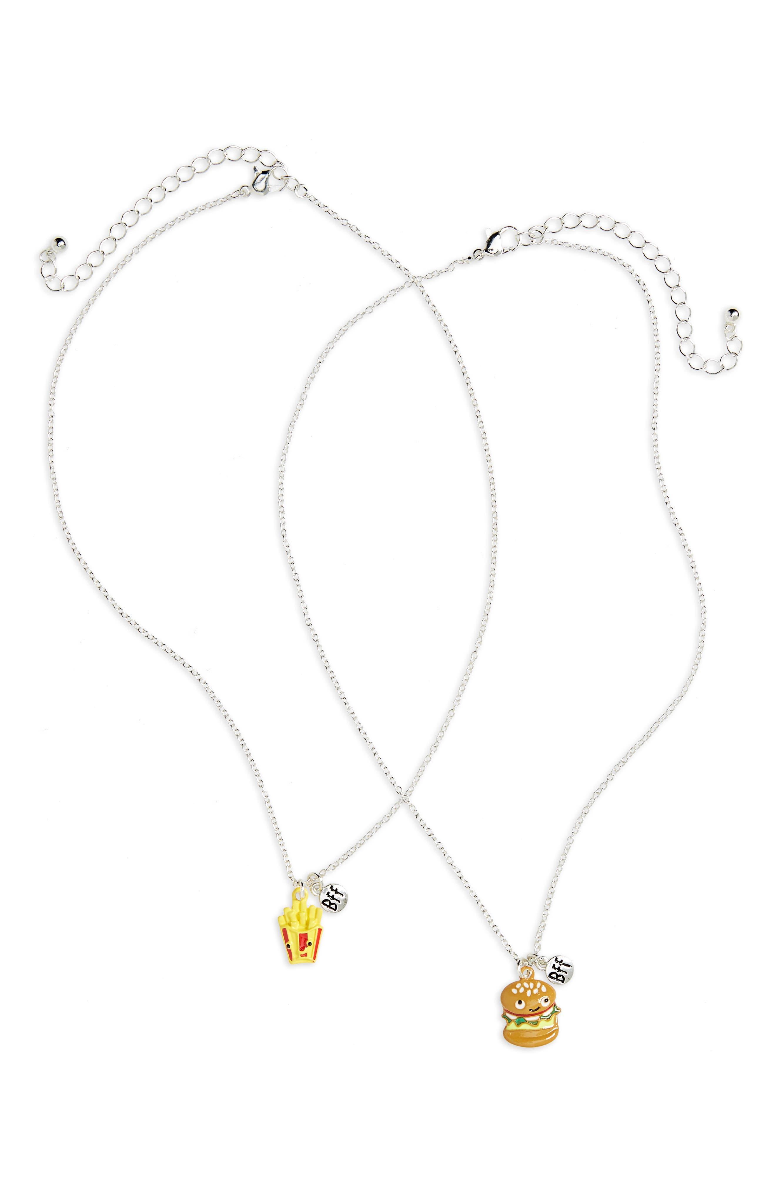 Main Image - Capelli New York Set of 2 Junk Food BFF Necklaces (Girls)