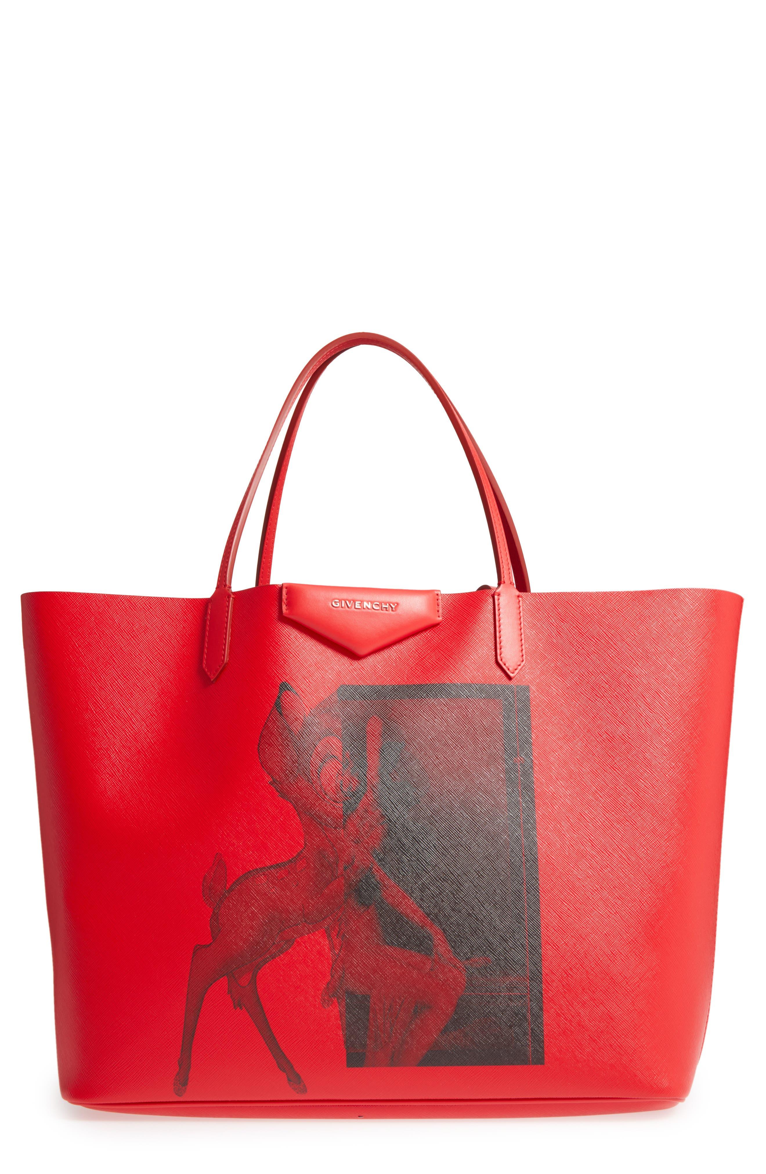 Main Image - Givenchy Antigona - Bambi Print Coated CanvasTote
