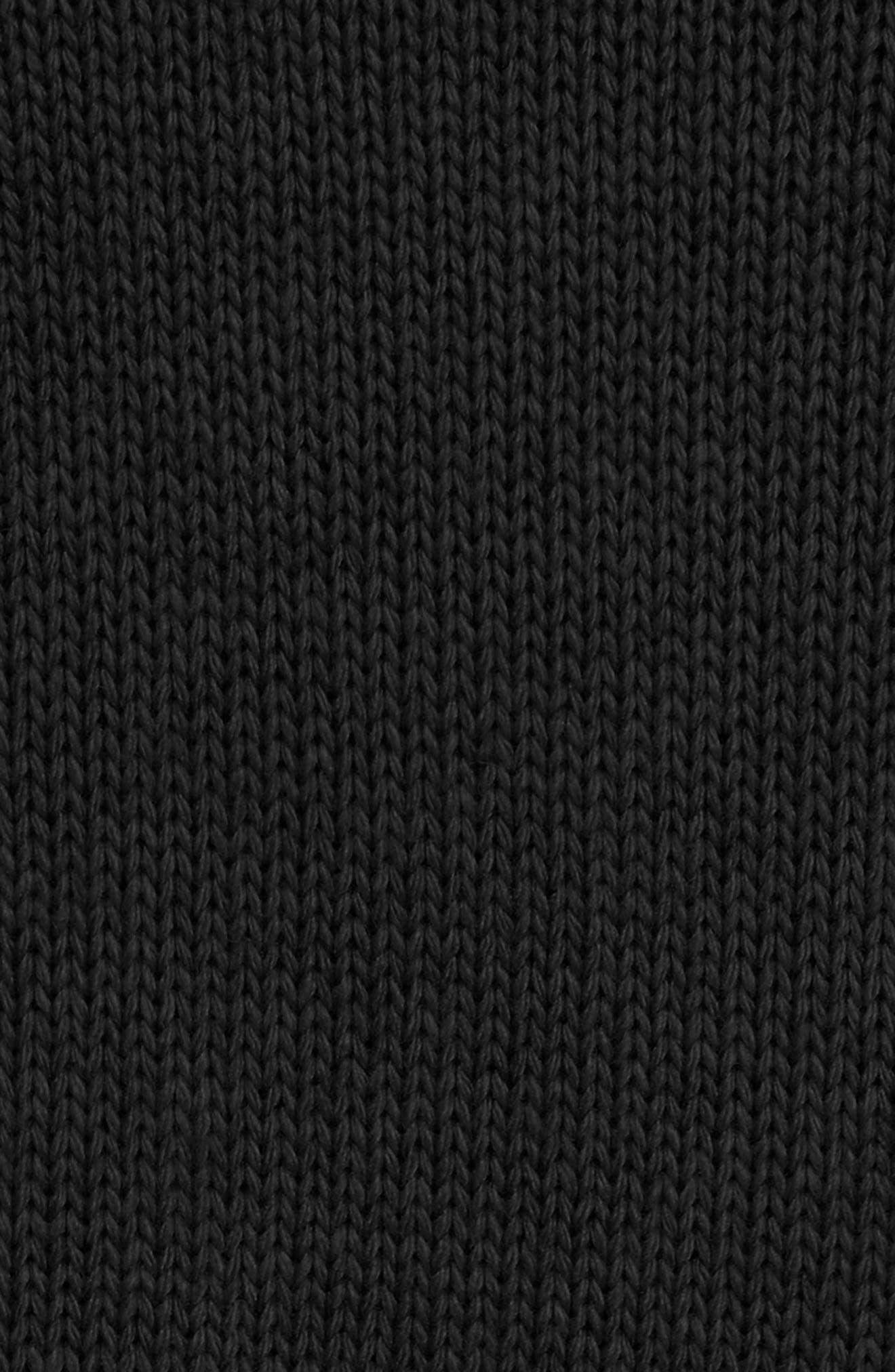 Remi Layered Pullover,                             Alternate thumbnail 5, color,                             Black/ White