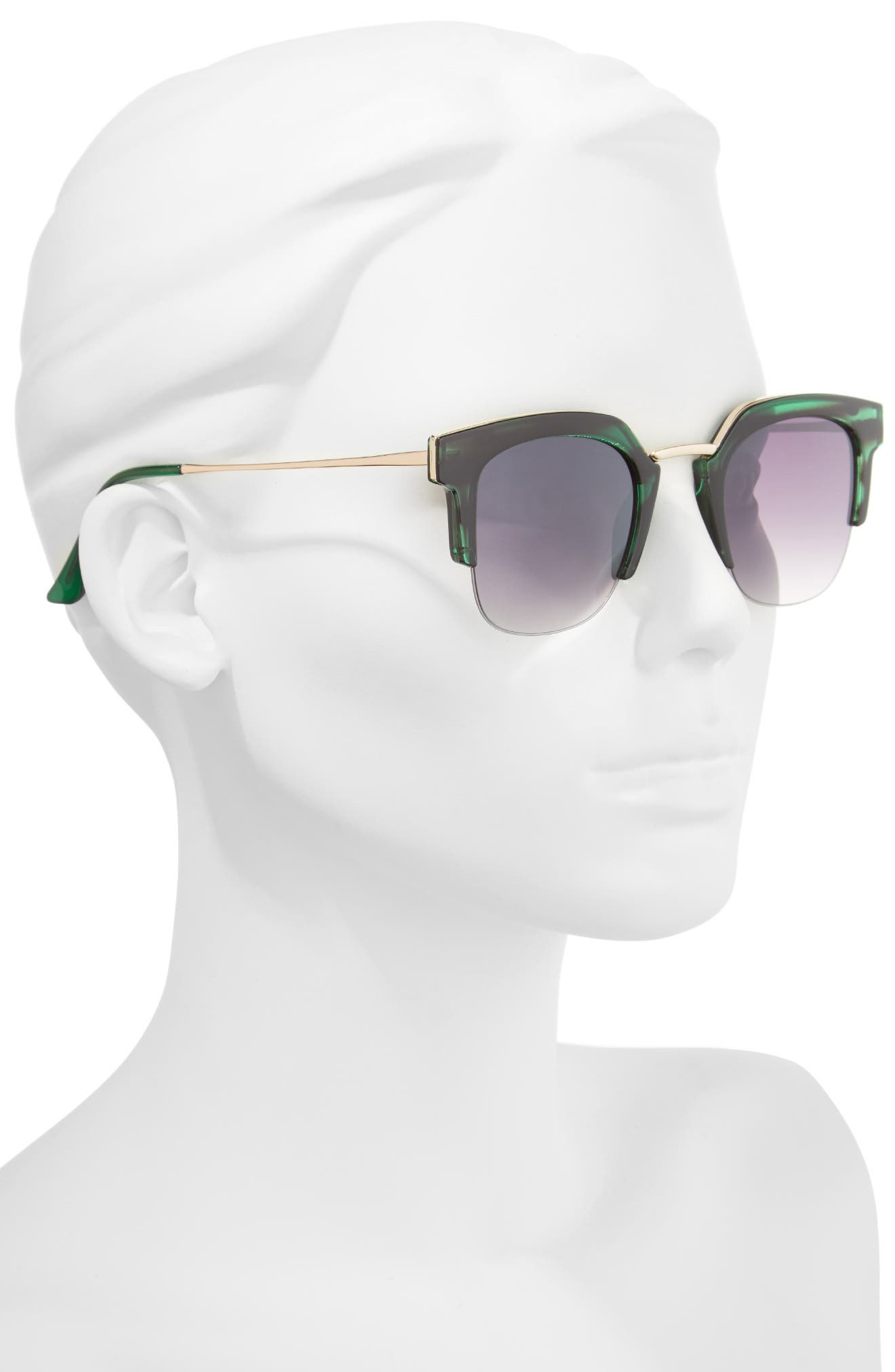 47mm Retro Sunglasses,                             Alternate thumbnail 2, color,                             Green