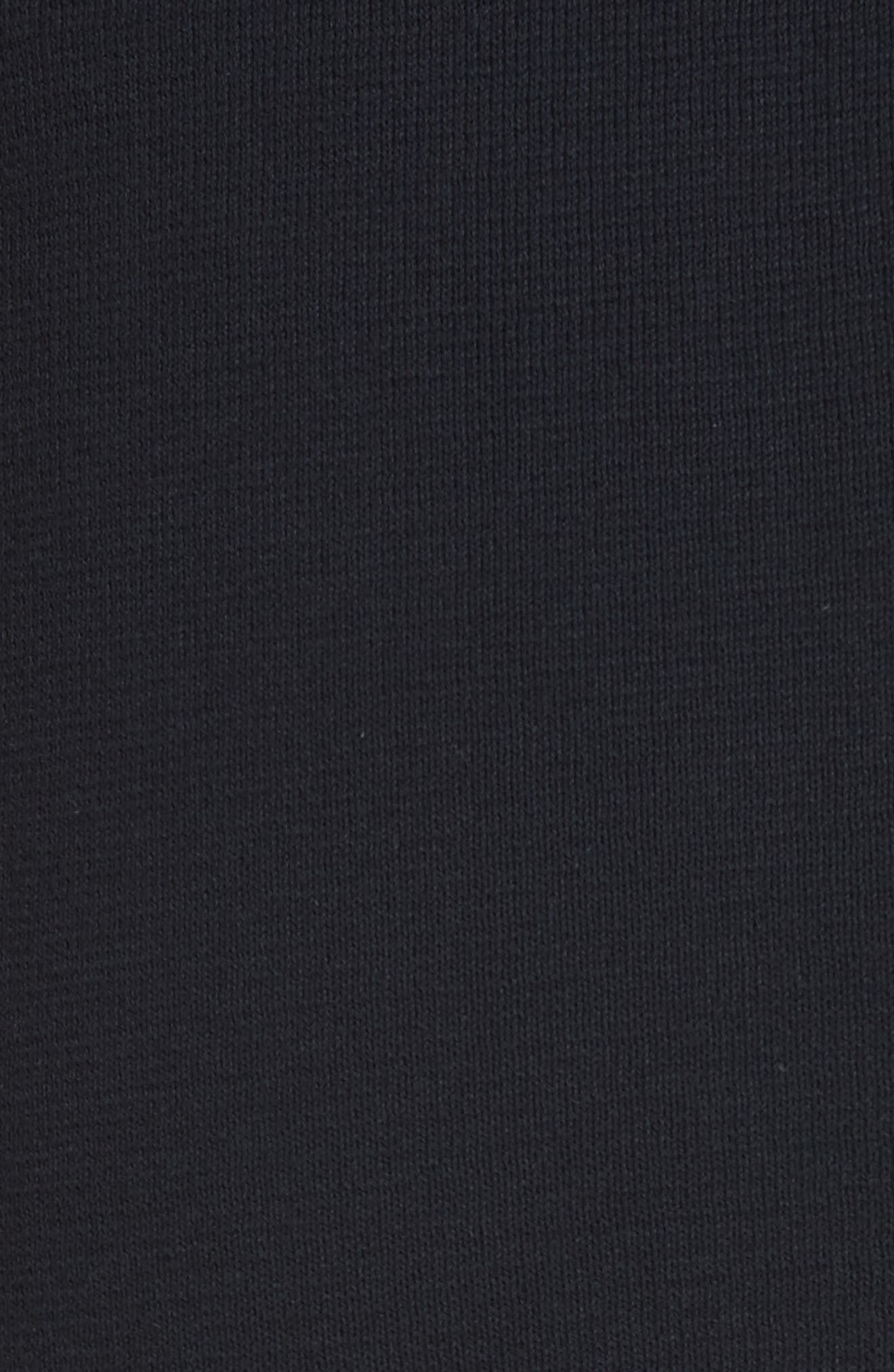 Stripe Cotton Skirt,                             Alternate thumbnail 5, color,                             Ink