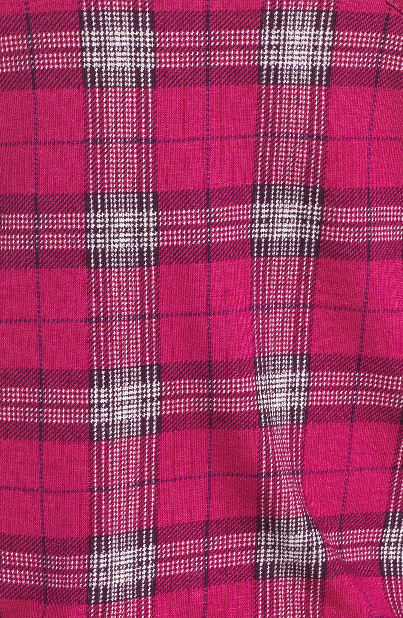 Rib Pajamas,                             Alternate thumbnail 5, color,                             Ritz Plaid