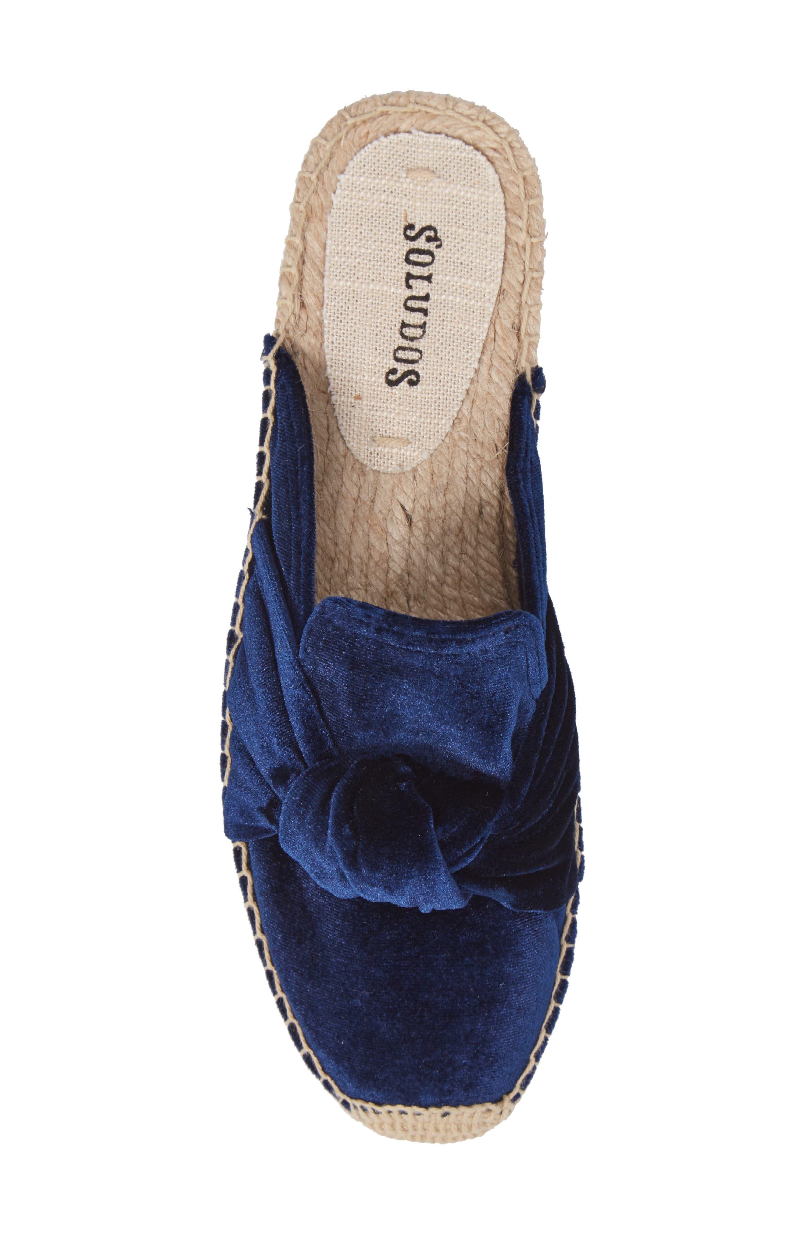 Alternate Image 4  - Soludos Knotted Velvet Loafer Mule (Women)