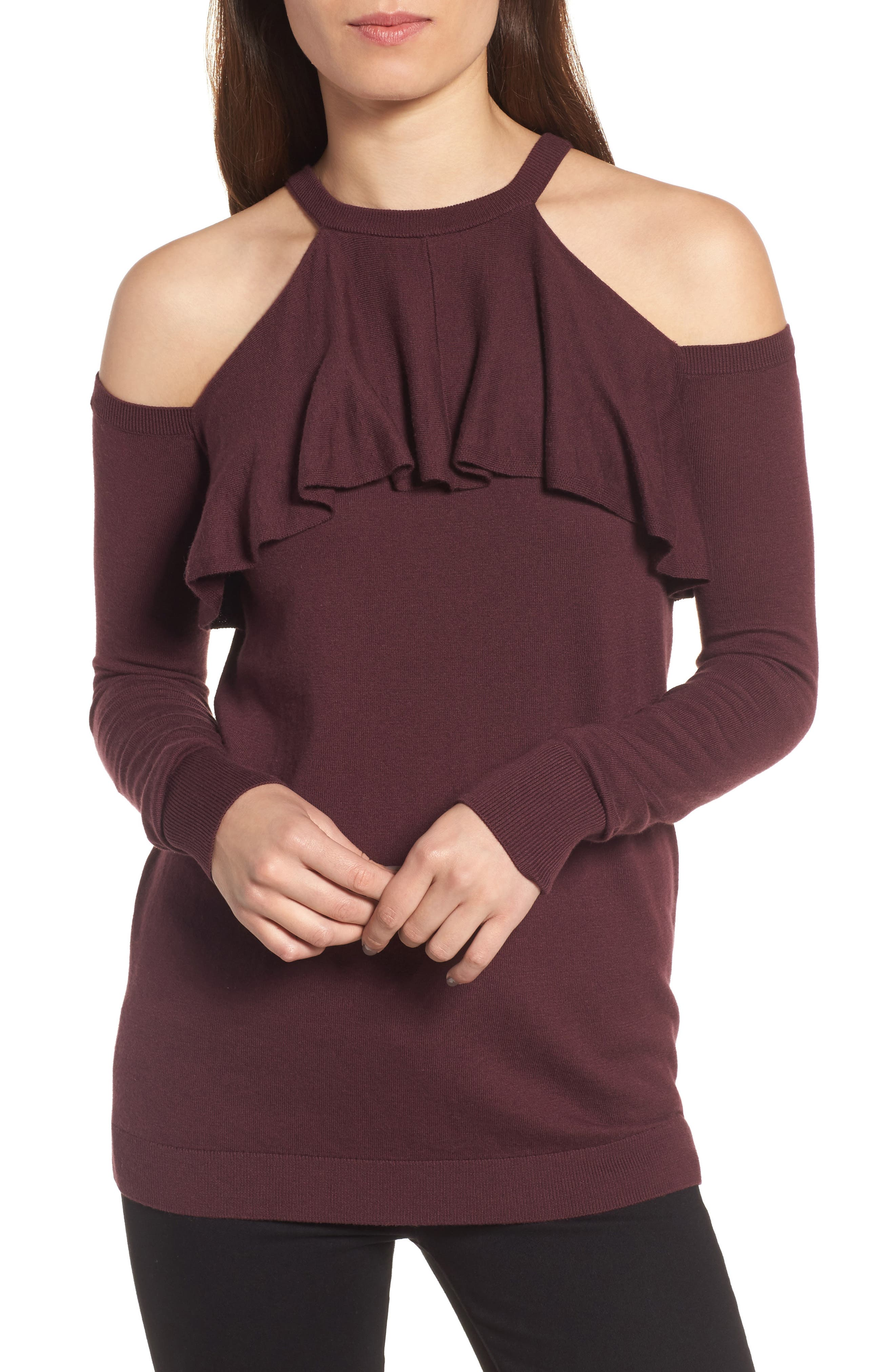 Main Image - Chelsea28 Cold Shoulder Sweater