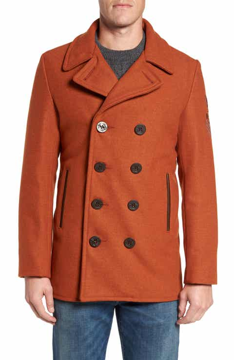 Men's Orange Peacoat & Wool Coats | Nordstrom