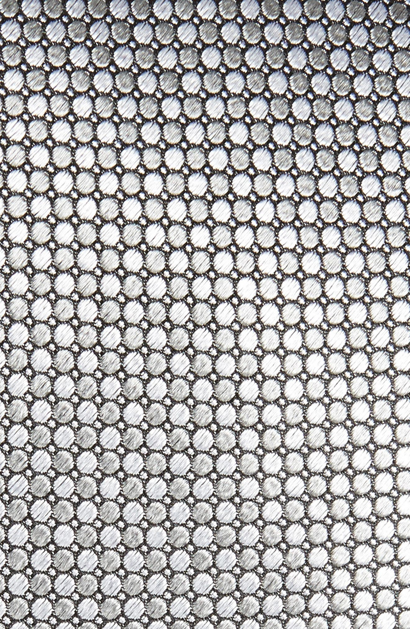 Dot Grid Silk Tie,                             Alternate thumbnail 2, color,                             Silver