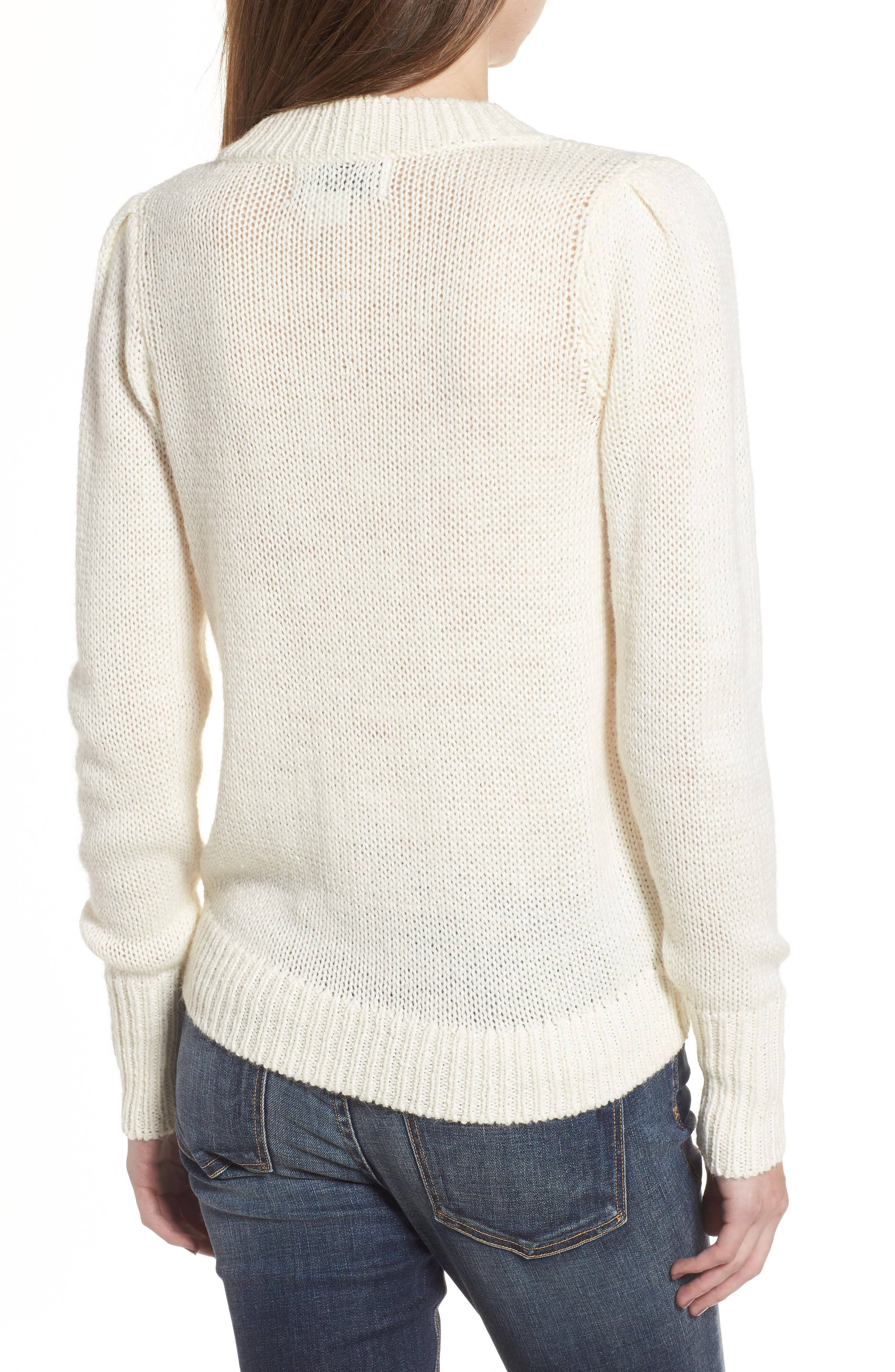 Diet Coke<sup>®</sup> Sweater,                             Alternate thumbnail 2, color,                             Clean White