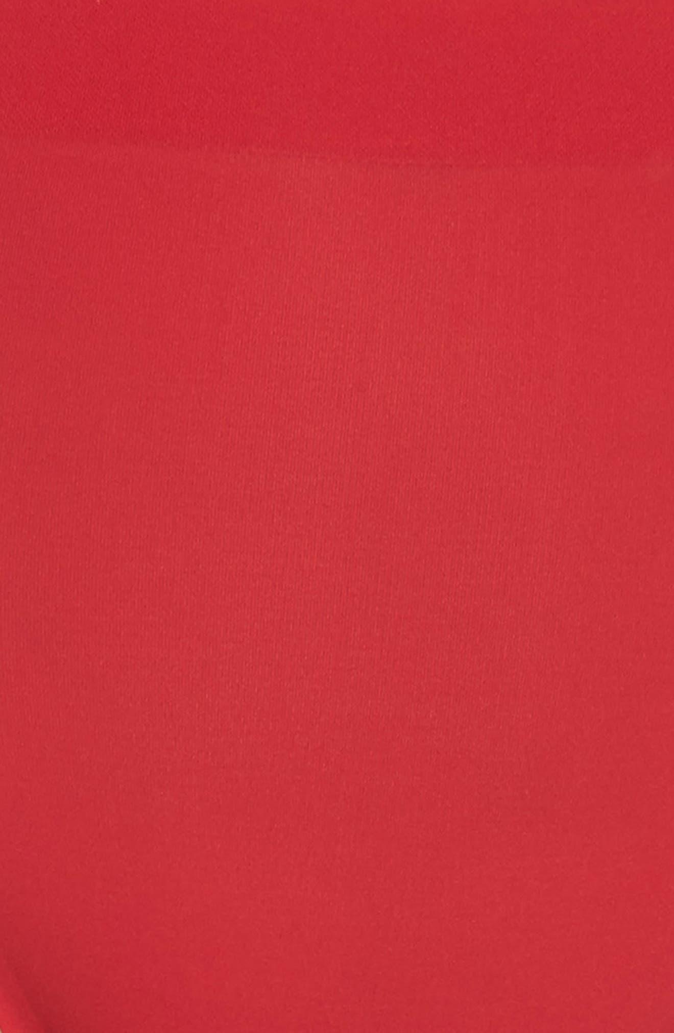 'Skinsense' Seamless High Cut Briefs,                             Alternate thumbnail 5, color,                             Tango Red