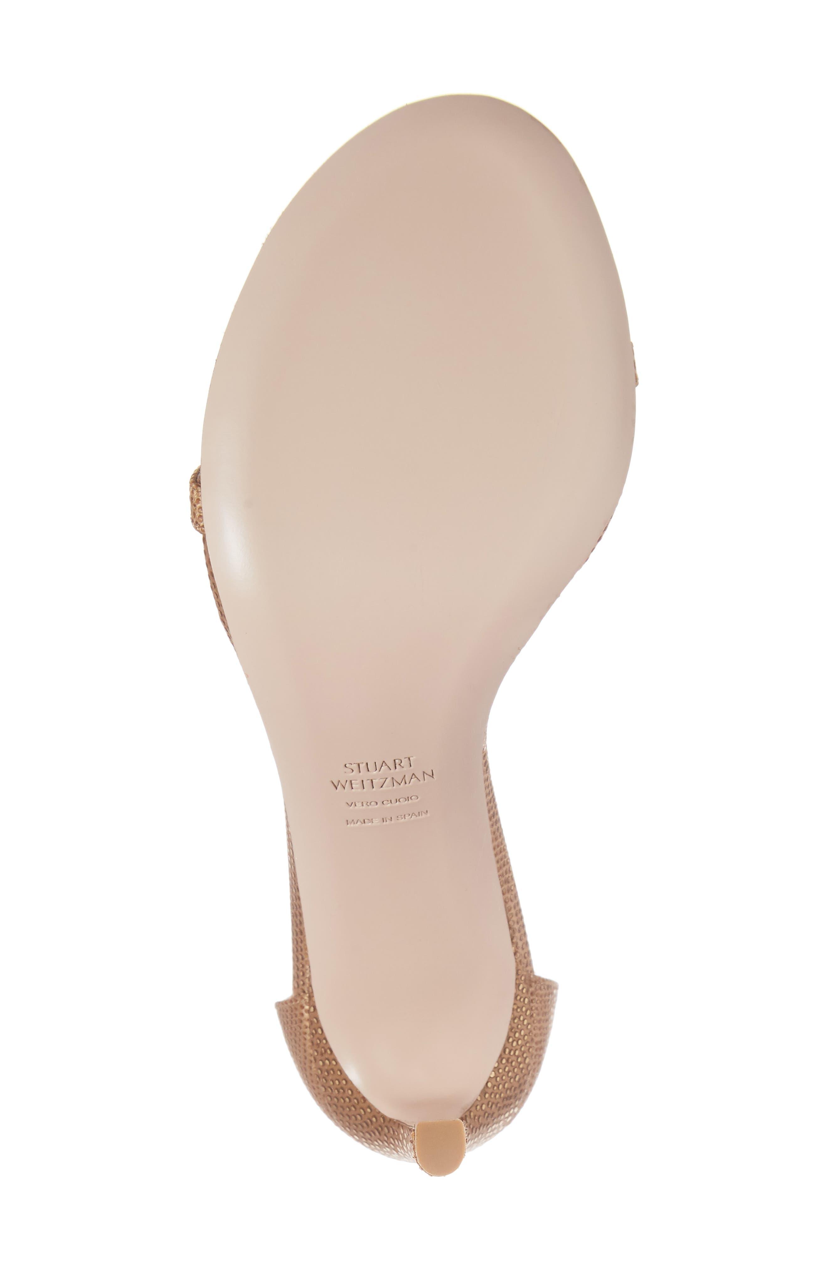 Nudistsong Ankle Strap Sandal,                             Alternate thumbnail 6, color,                             Gold Dot