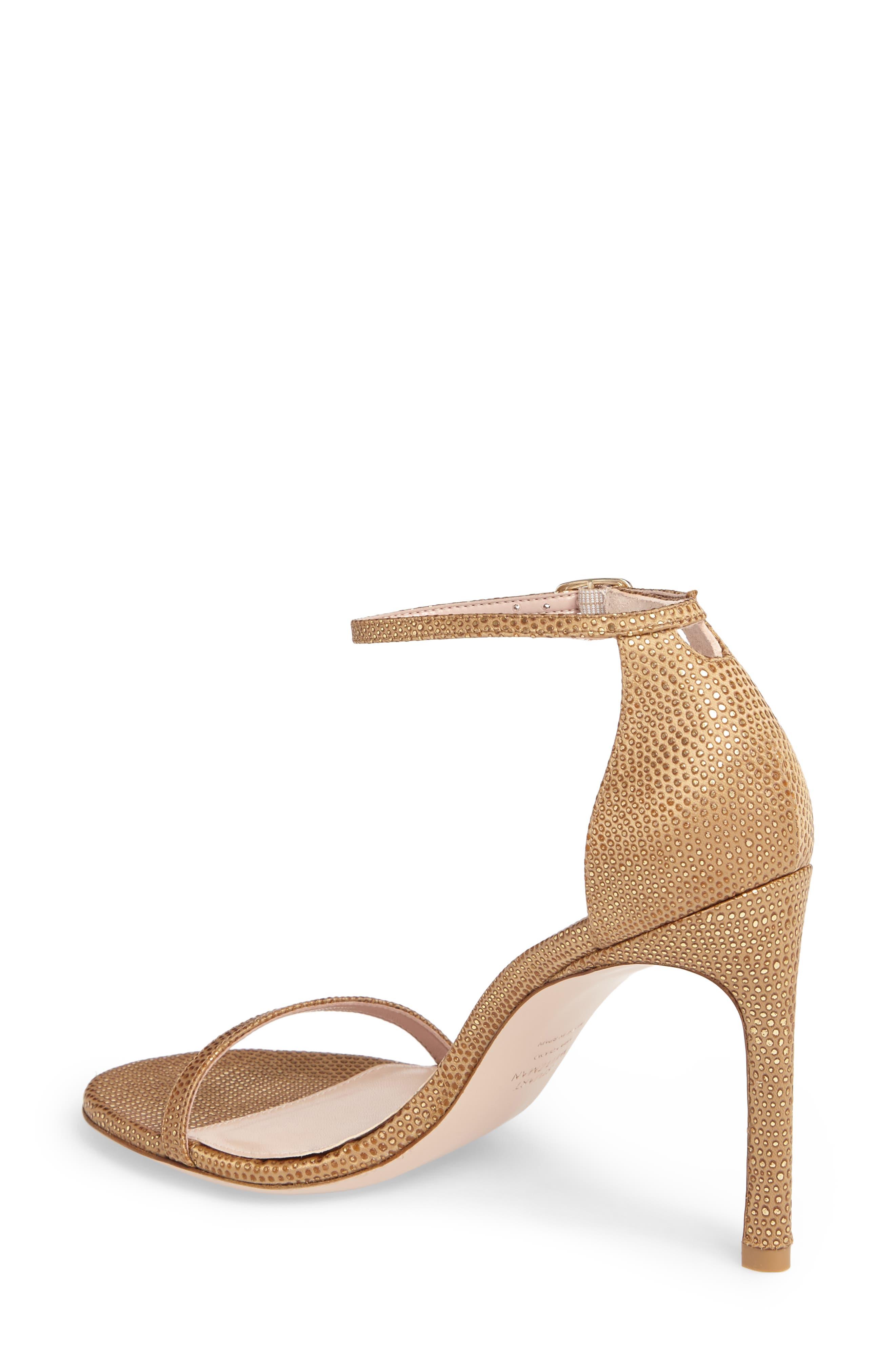 Nudistsong Ankle Strap Sandal,                             Alternate thumbnail 2, color,                             Gold Dot